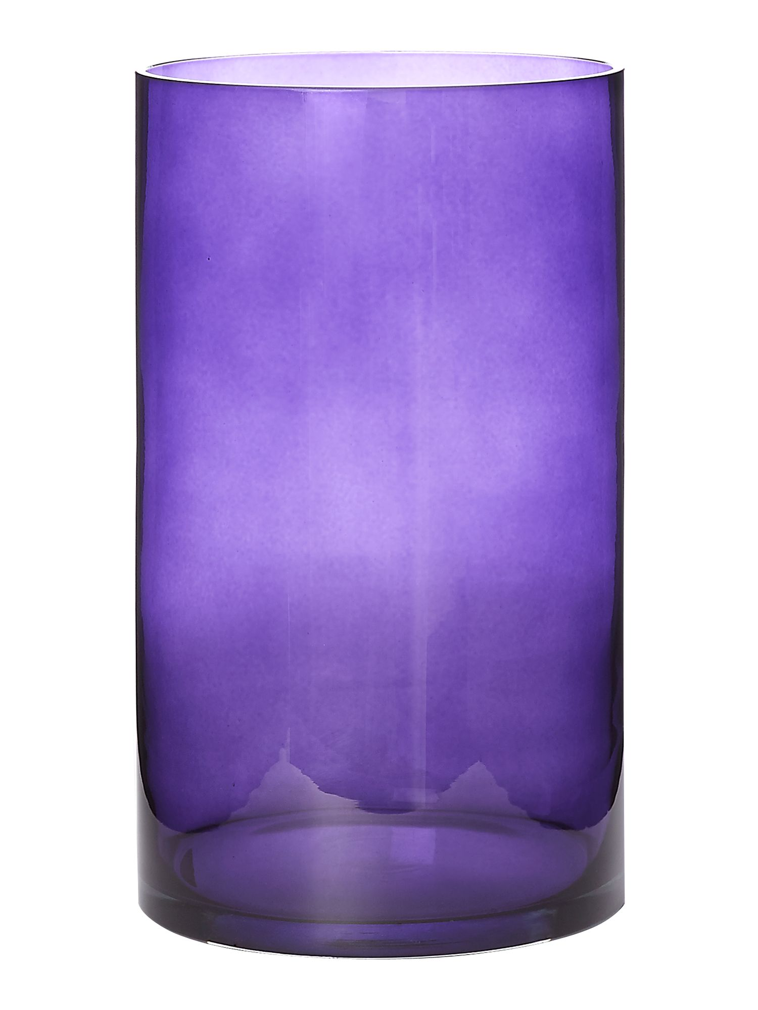 Purple lustre vase, medium