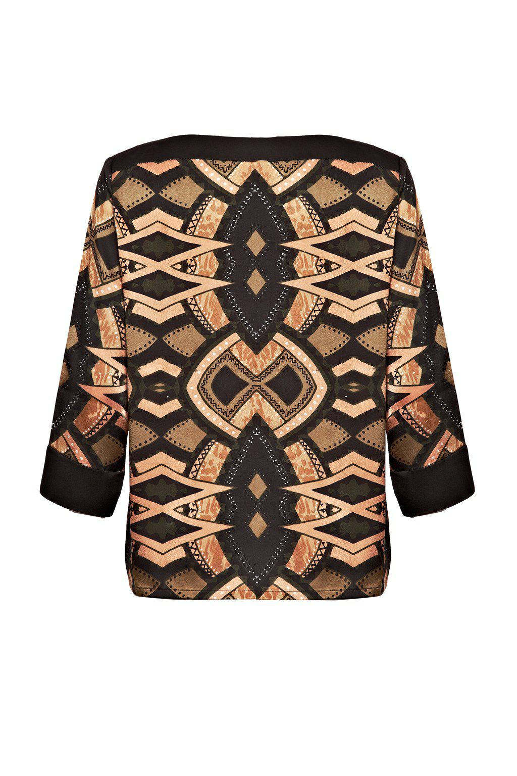 Totem contrast 3/4 sleeve top