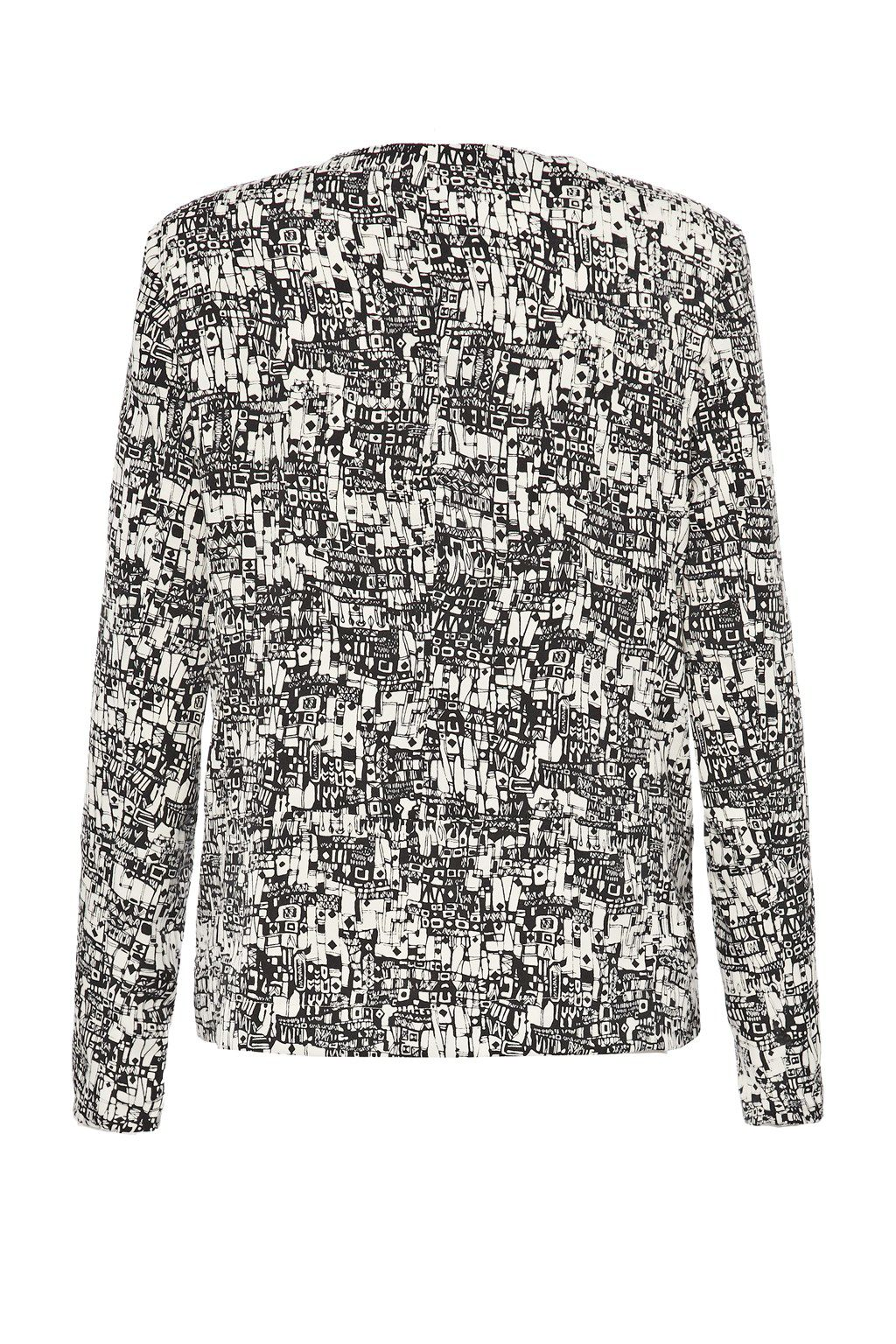 Caligari open front print jacket