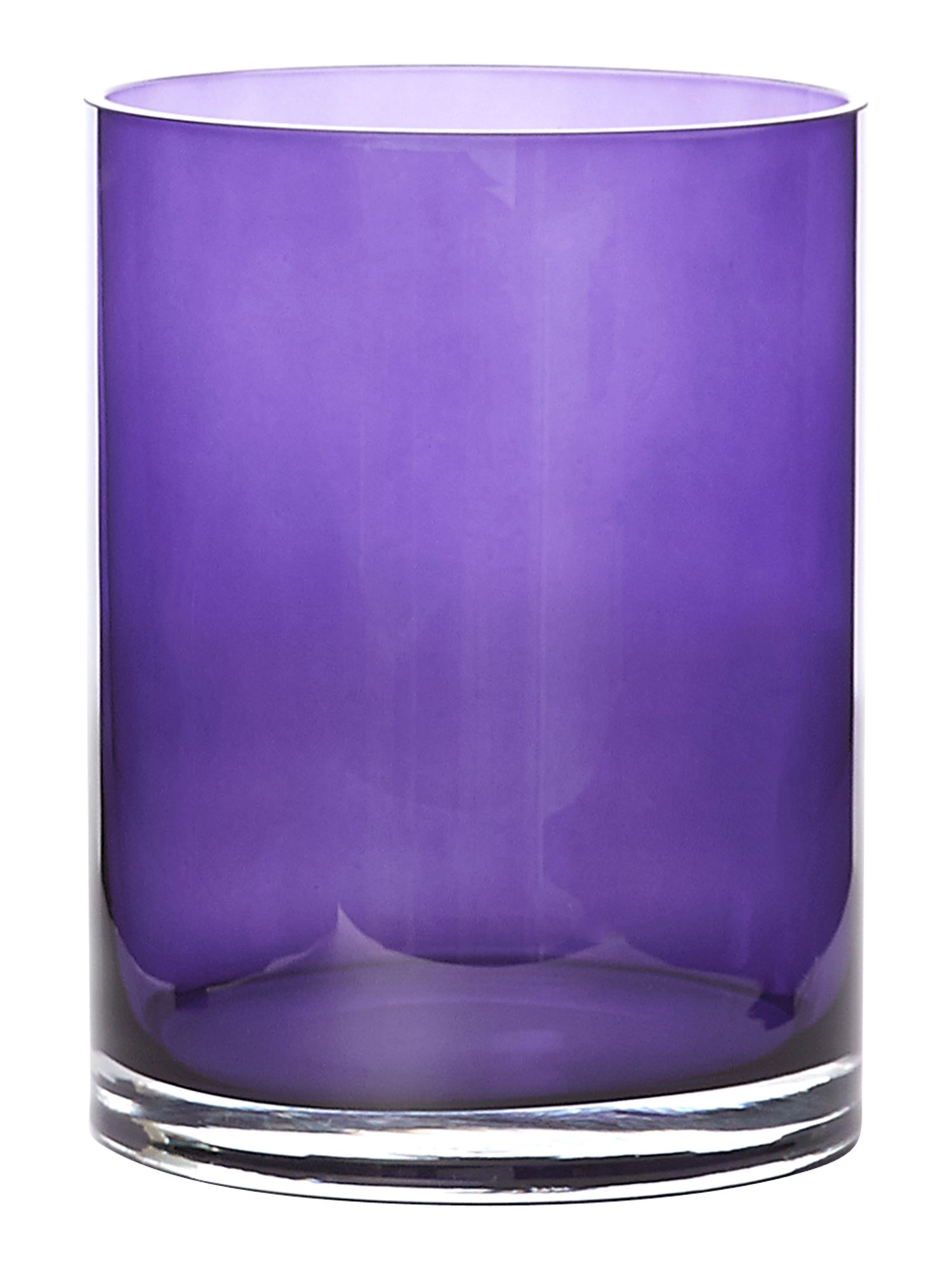 Purple lustre vase, small