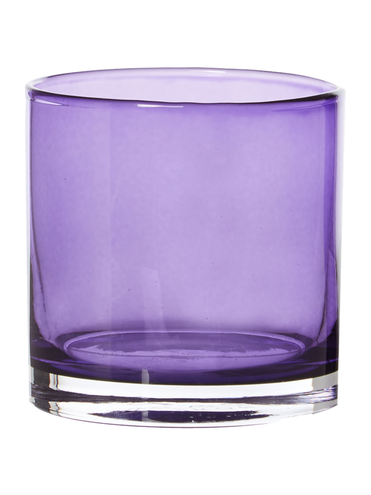 Purple lustre tealight holder