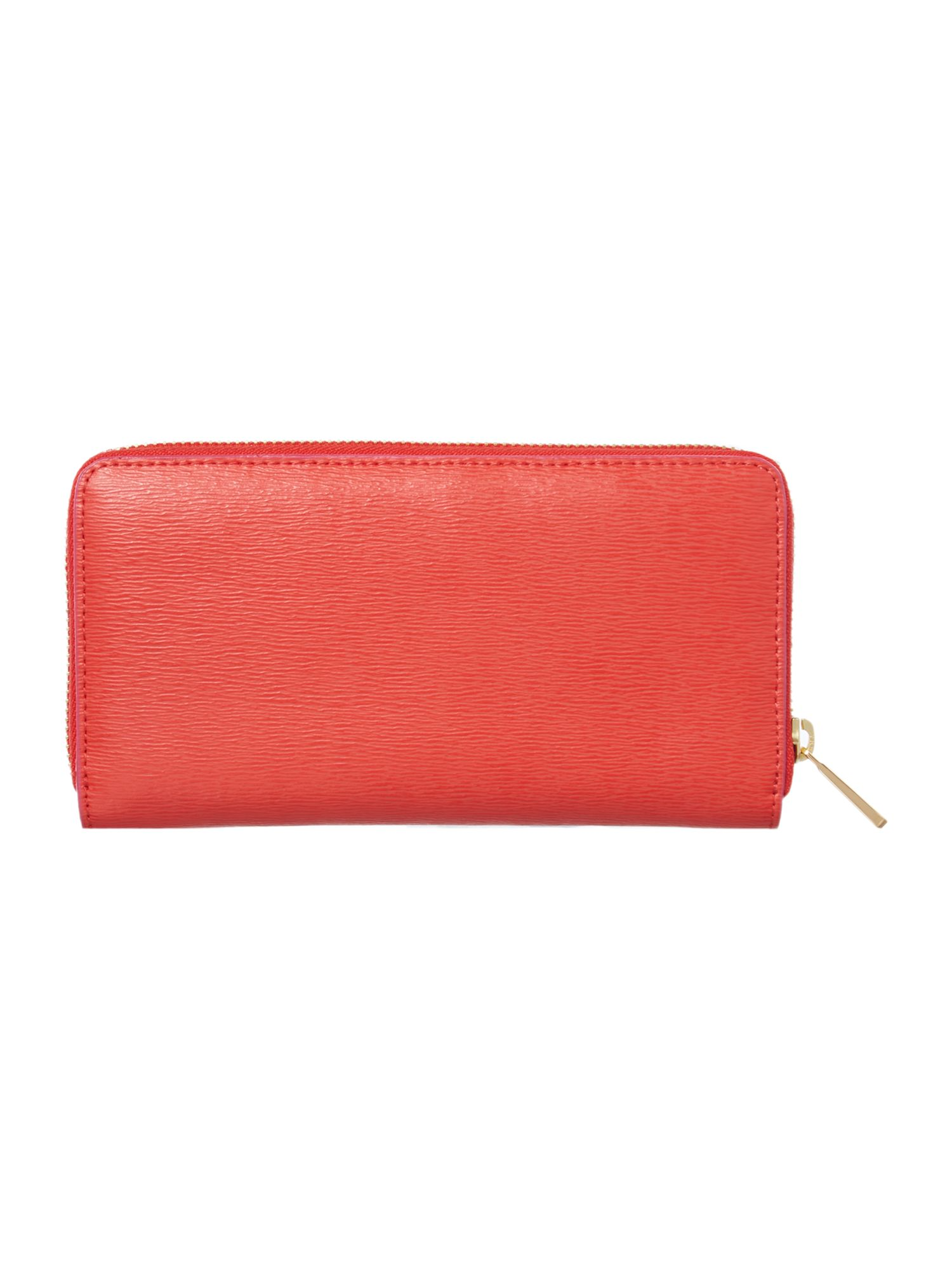 Tate coral zip around purse