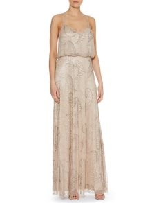 Art deco beaded maxi dress