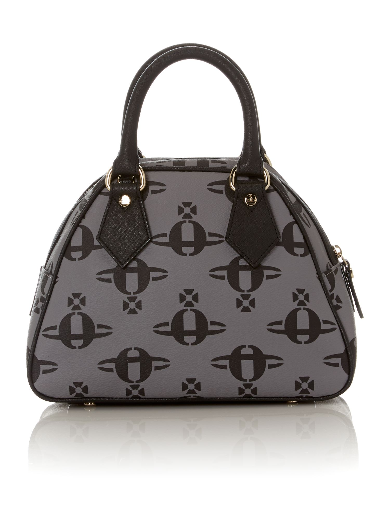 Logo Mania grey dome bag