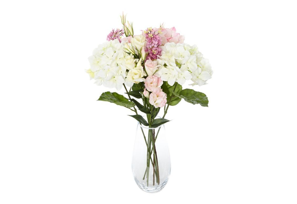 Clear bouquet vase