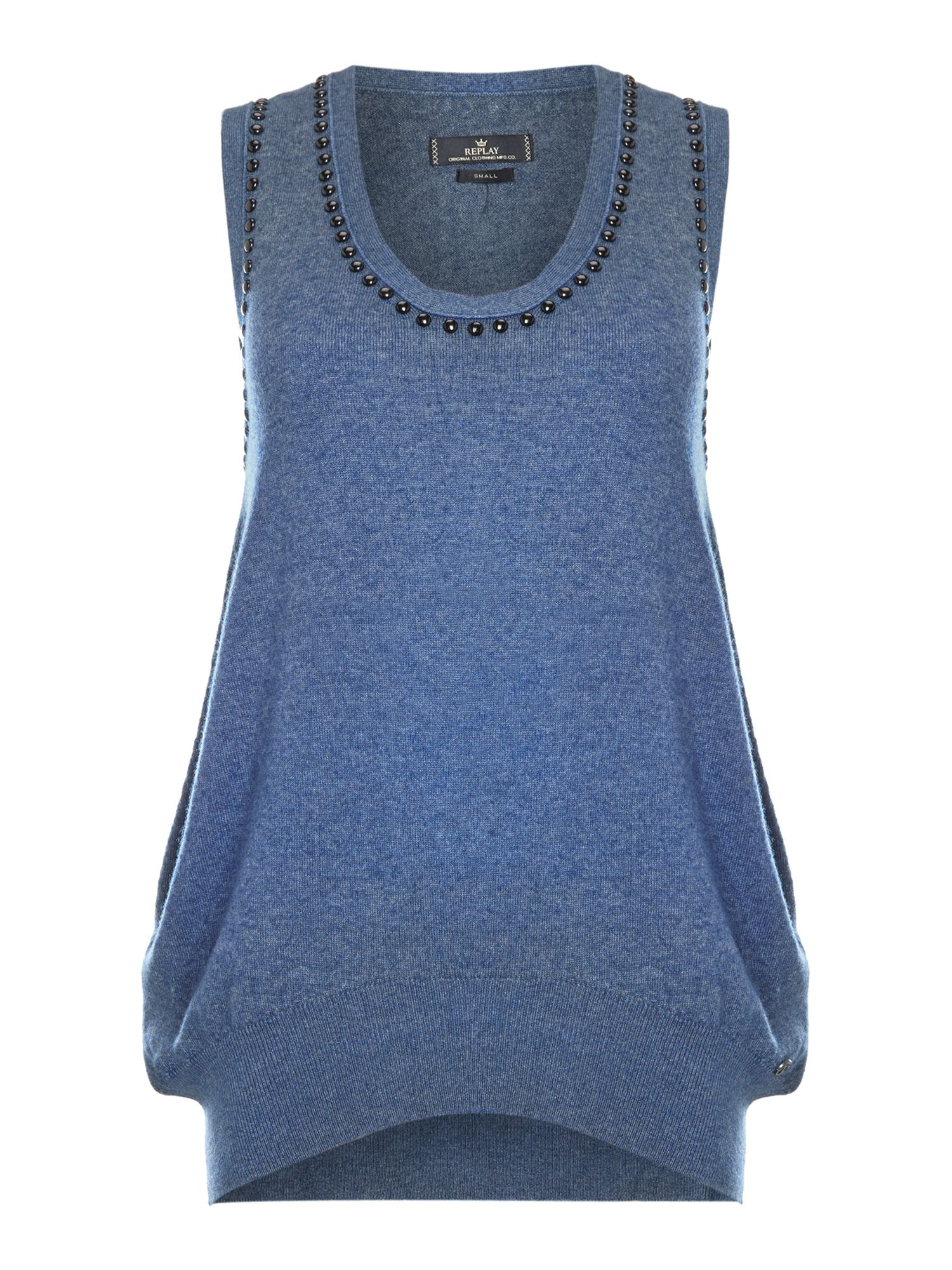 Wool top sleveless