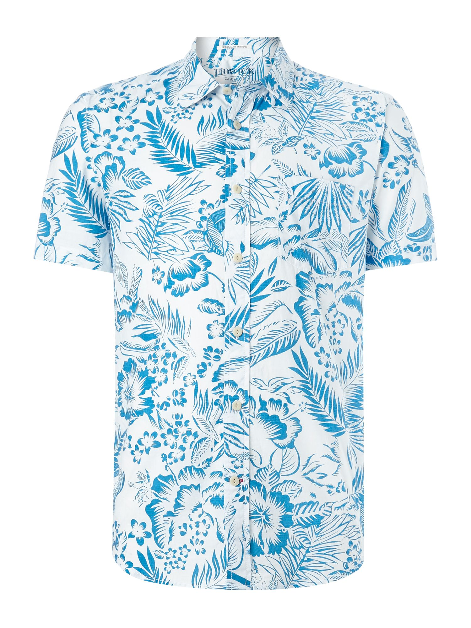 amalfi print short sleeve shirt