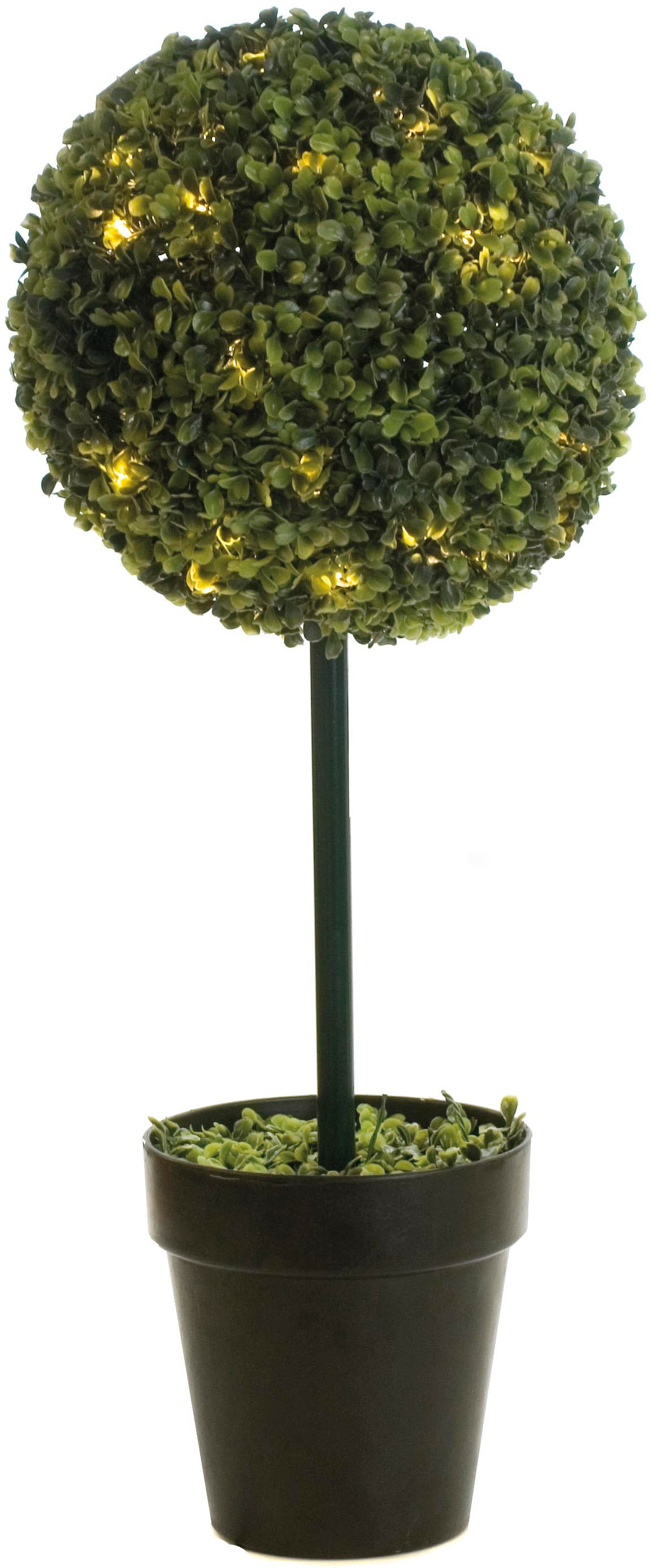 Linea Ball shaped topiary tree with lights, 80cm