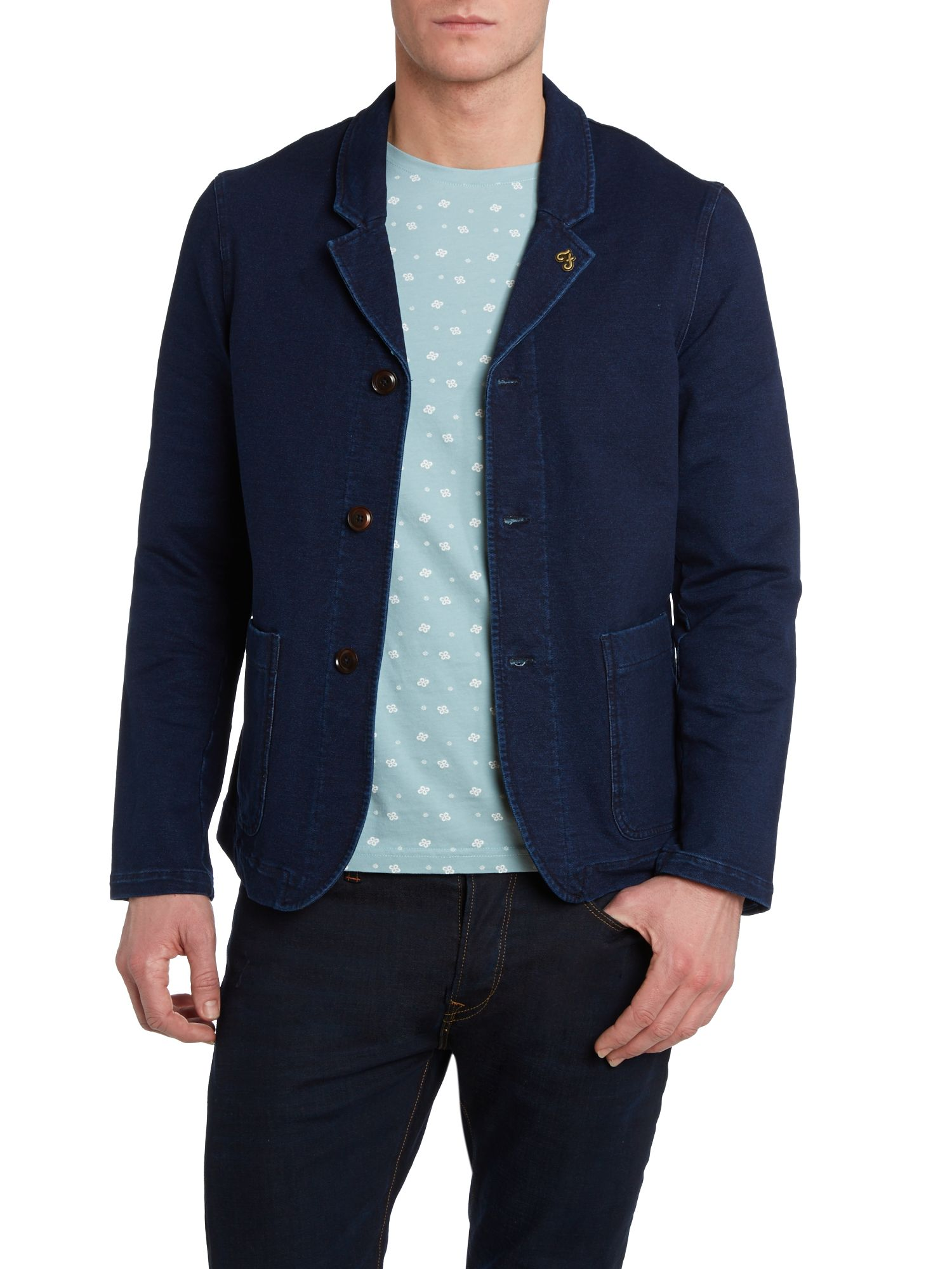 Drowley single breasted three button blazer