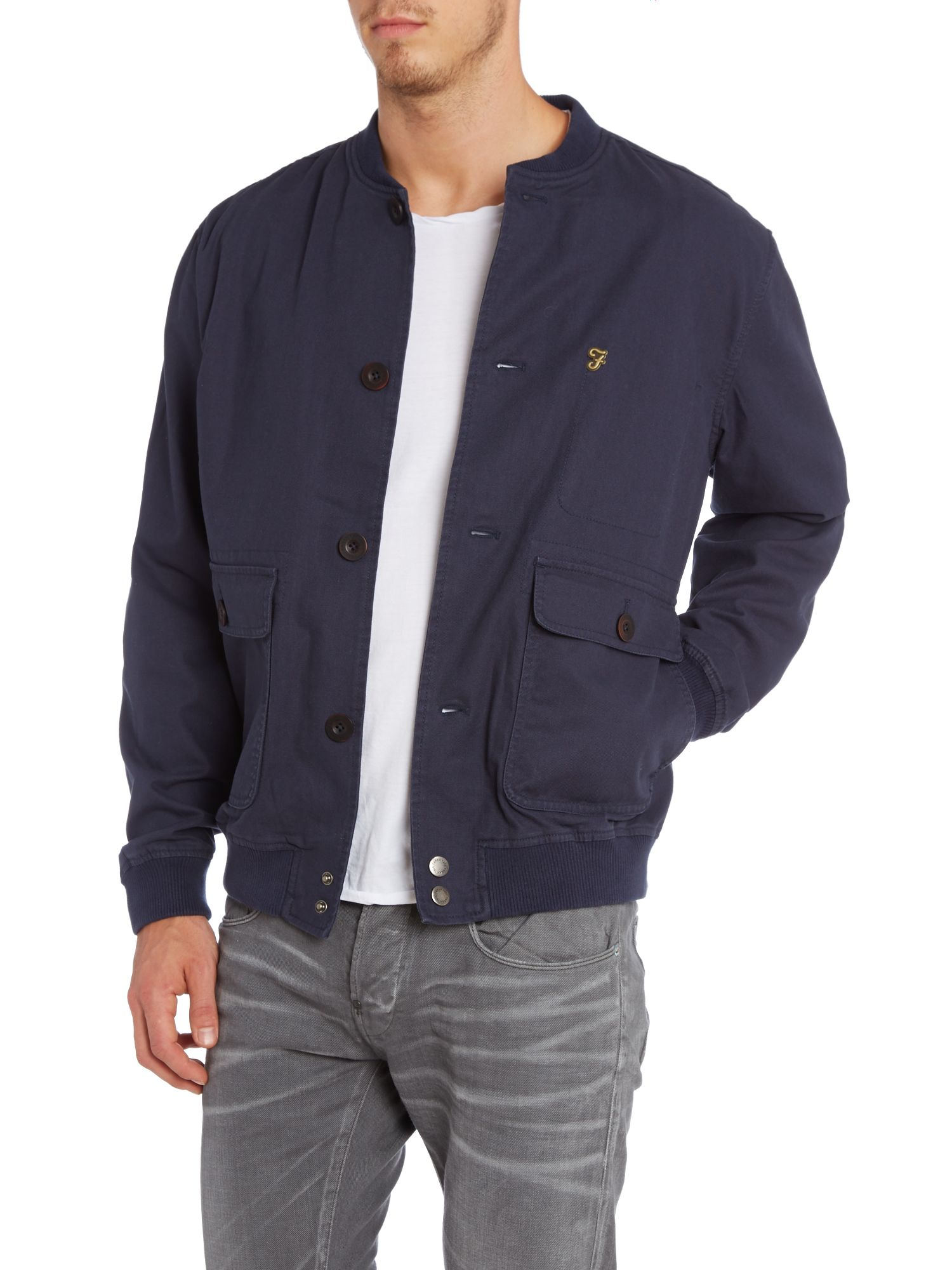 Baxtor three pocket bomber jacket