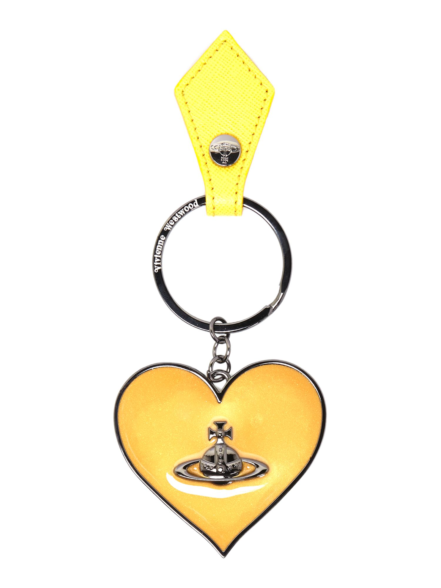 Gadget yellow heart keyring