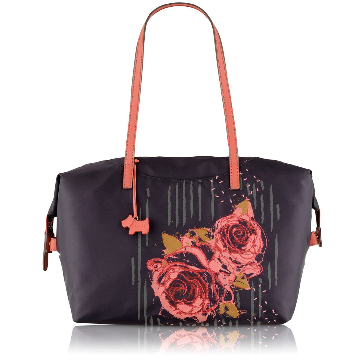 Purple medium tote bag