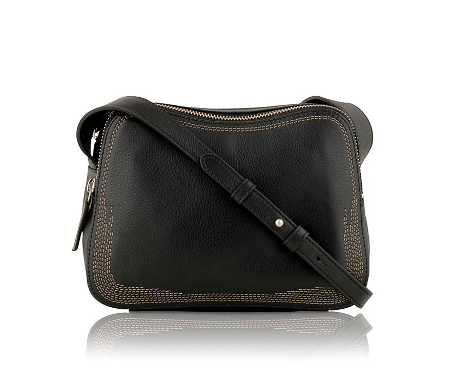 Johnston black medium scoop shoulder bag