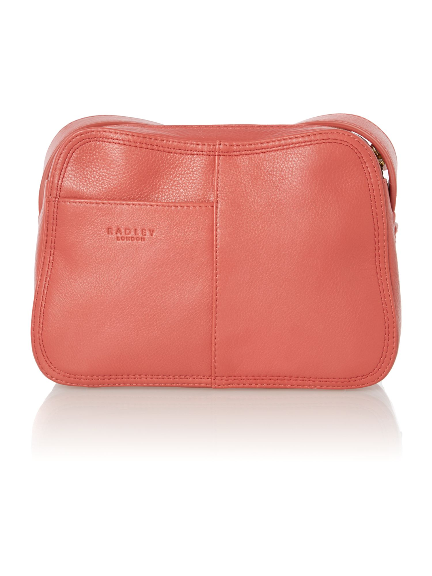Westbury pink small leather cross body bag