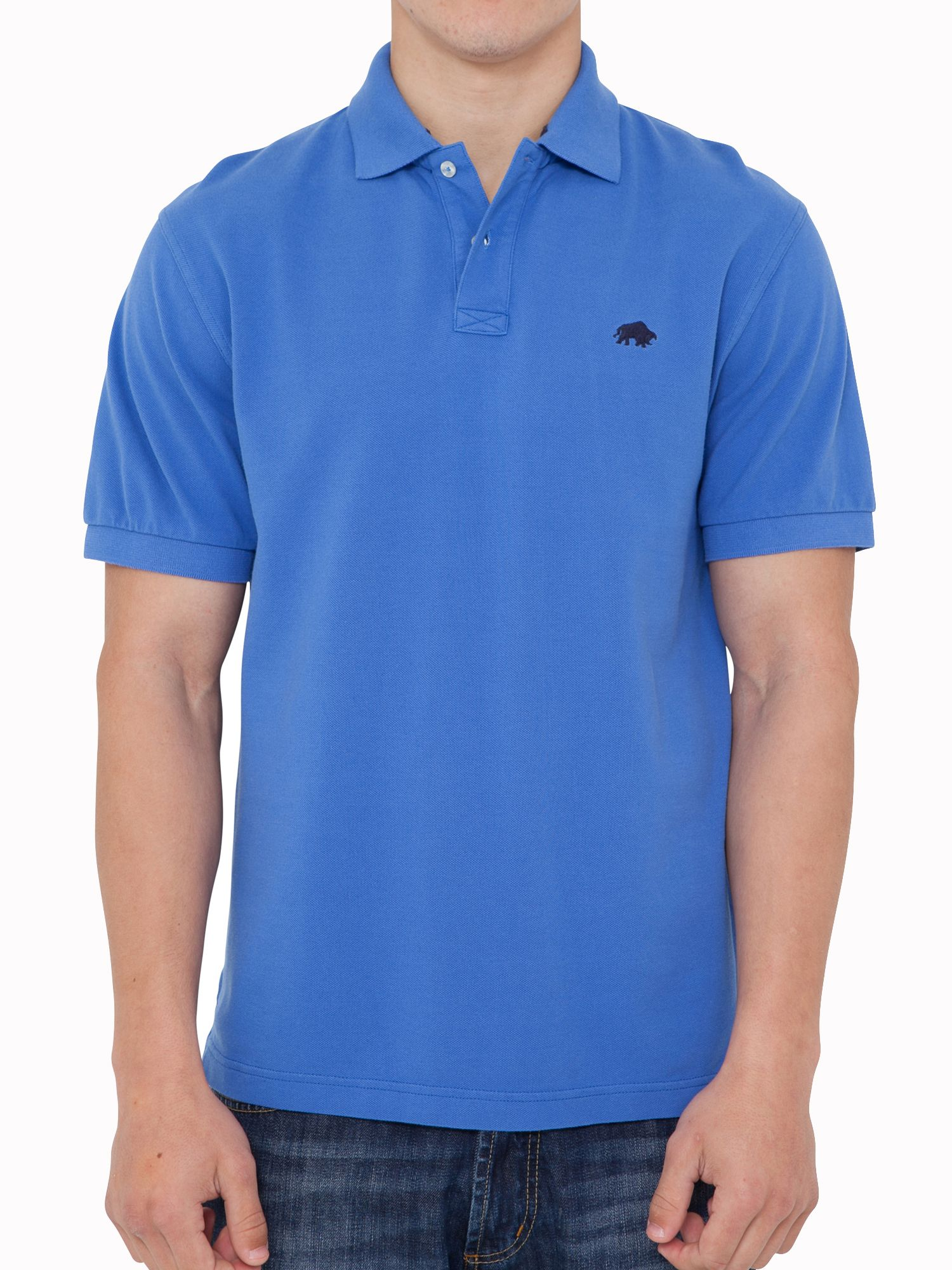 Big and tall signature pique polo cobalt