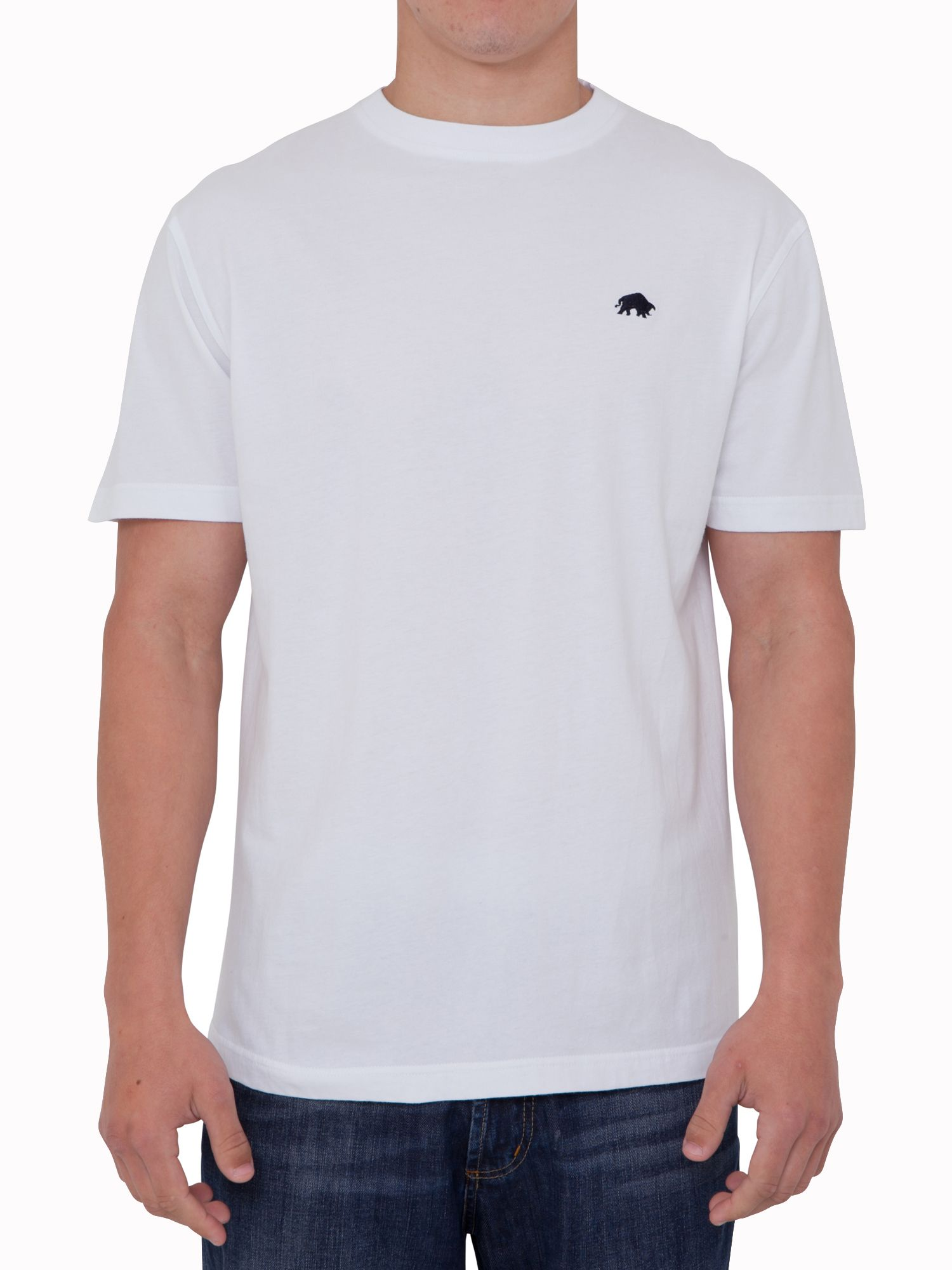 Big and tall signature tee white