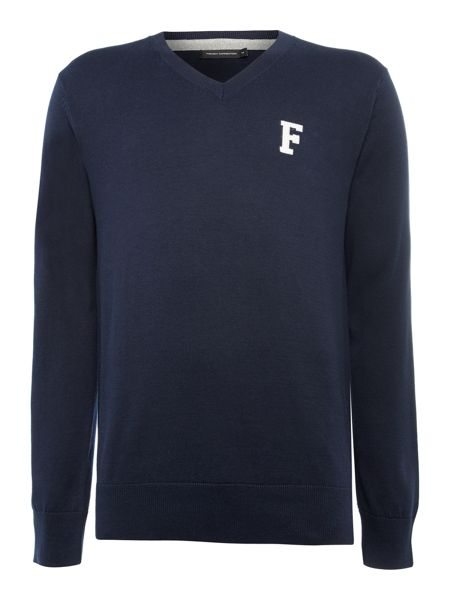French Connection F` intarsia cotton jumper