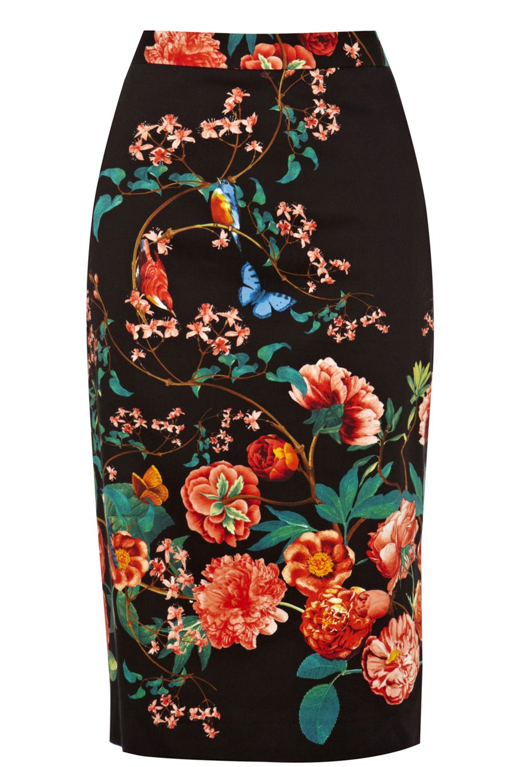 Winter Butterfly Pencil Skirt