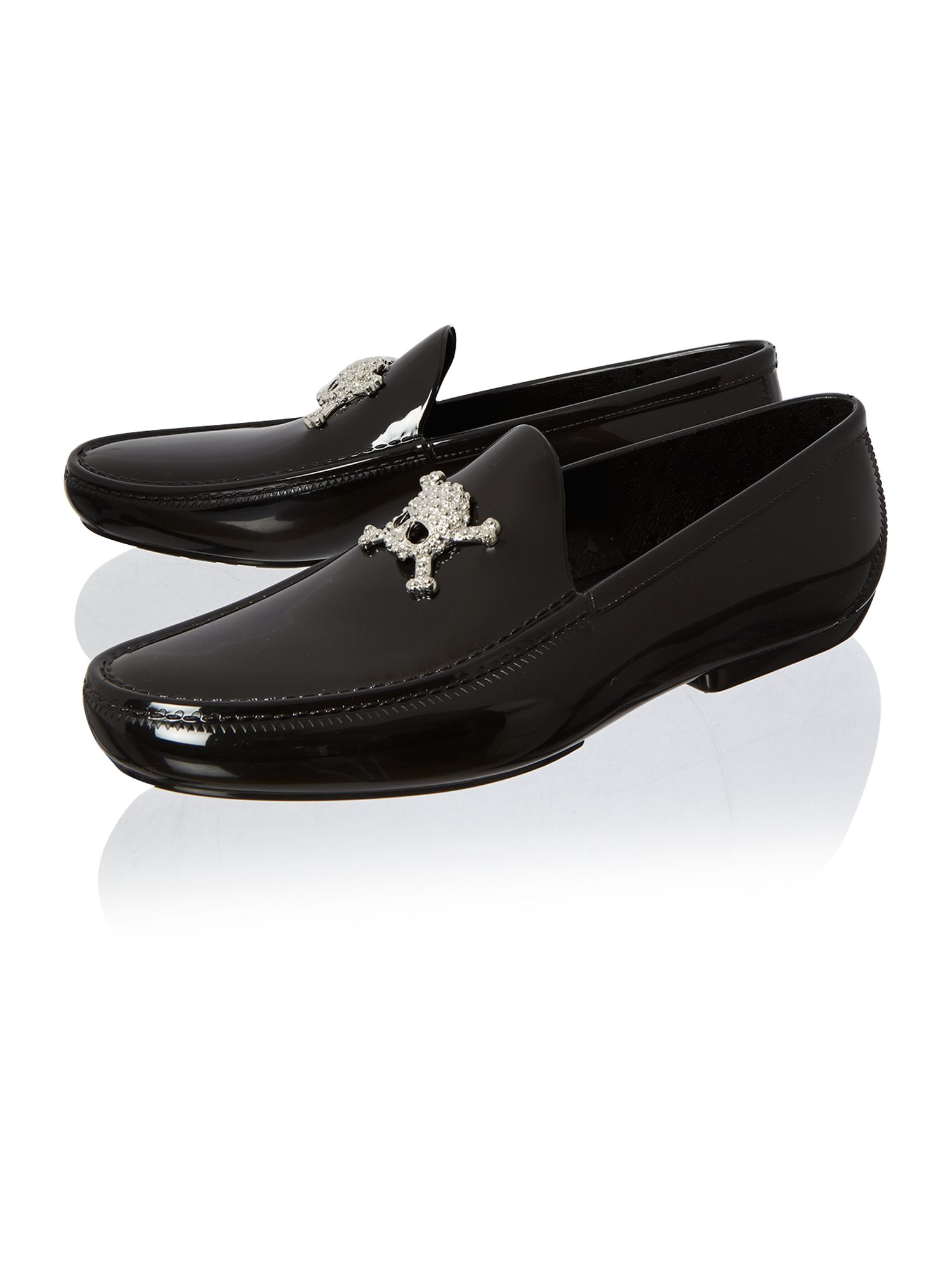 Skull moccasin shoe