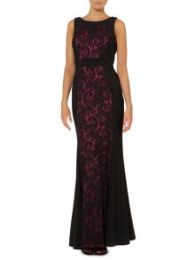 Lace pannel gown