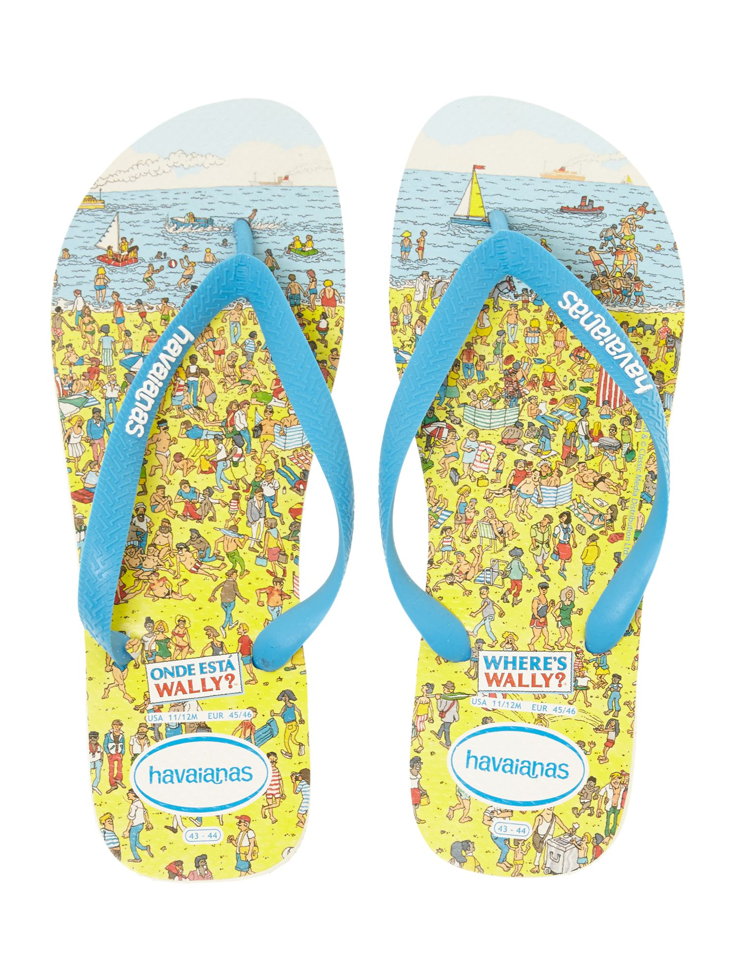 Wheres wally printed flip flop