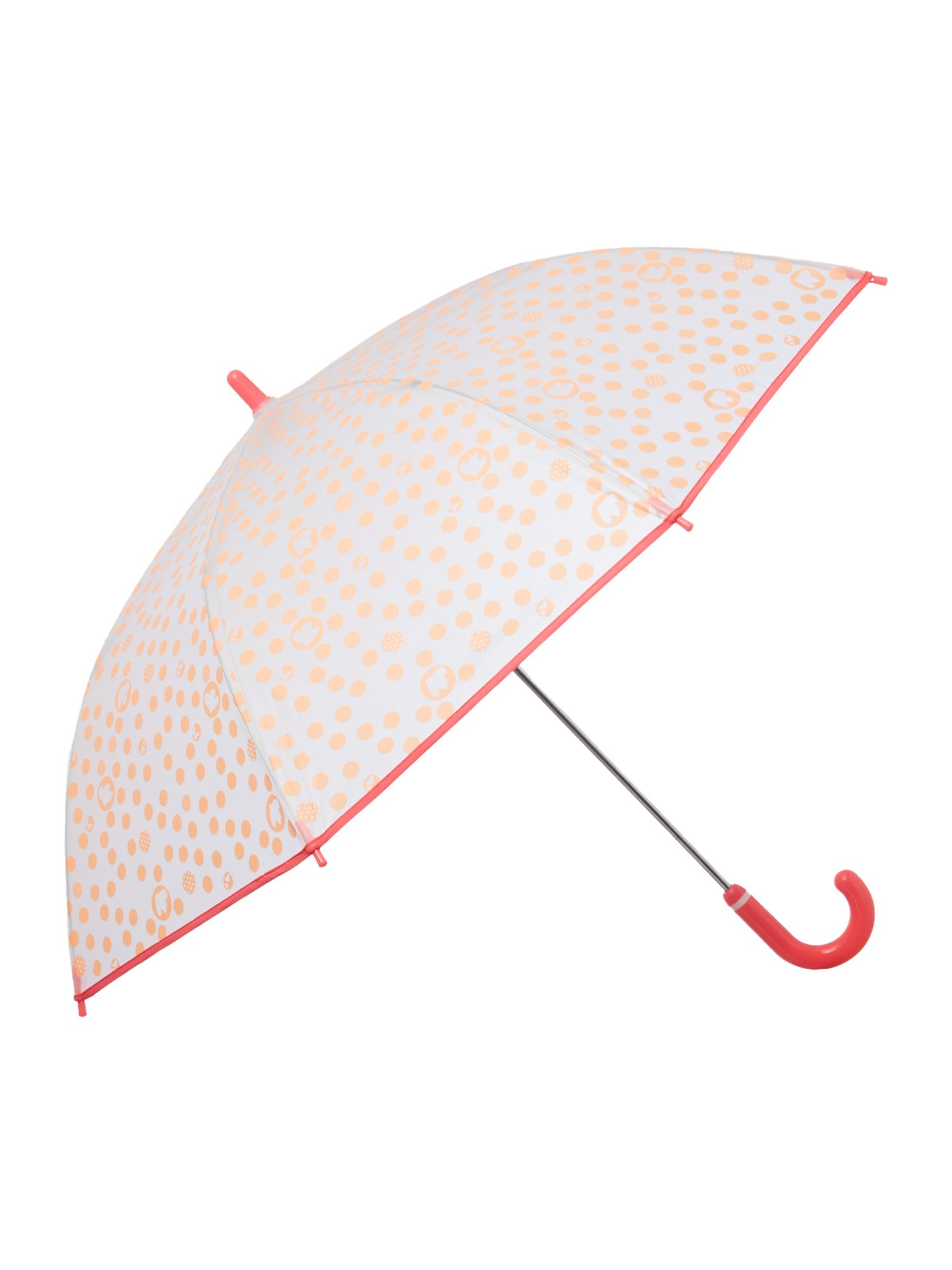 Girl`s spotted umbrella