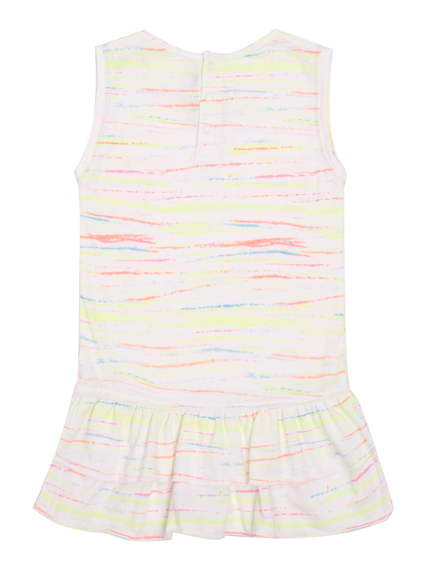 Girls heart and rainbow sleeveless dress