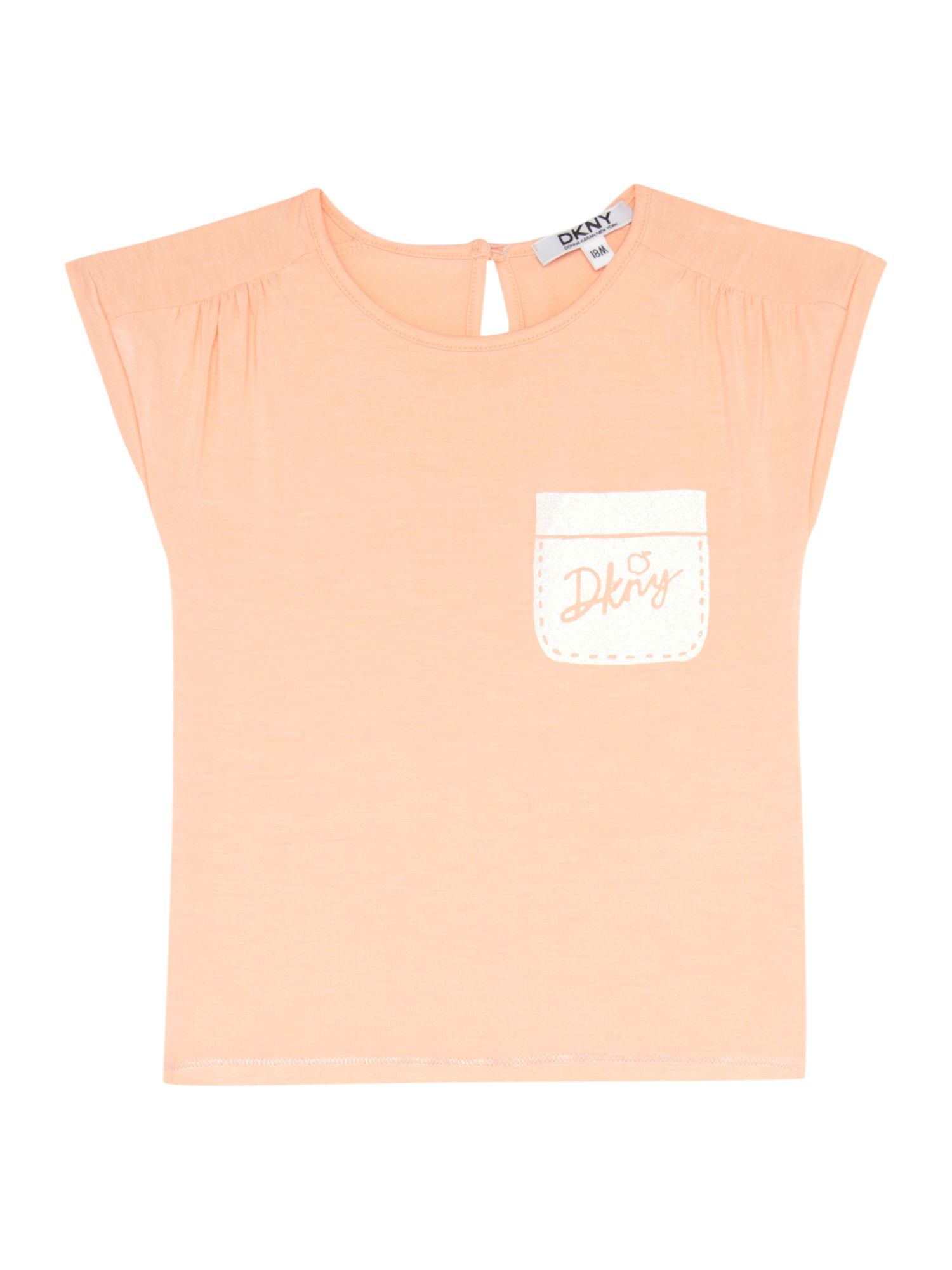 Girls pocket detail t-shirt
