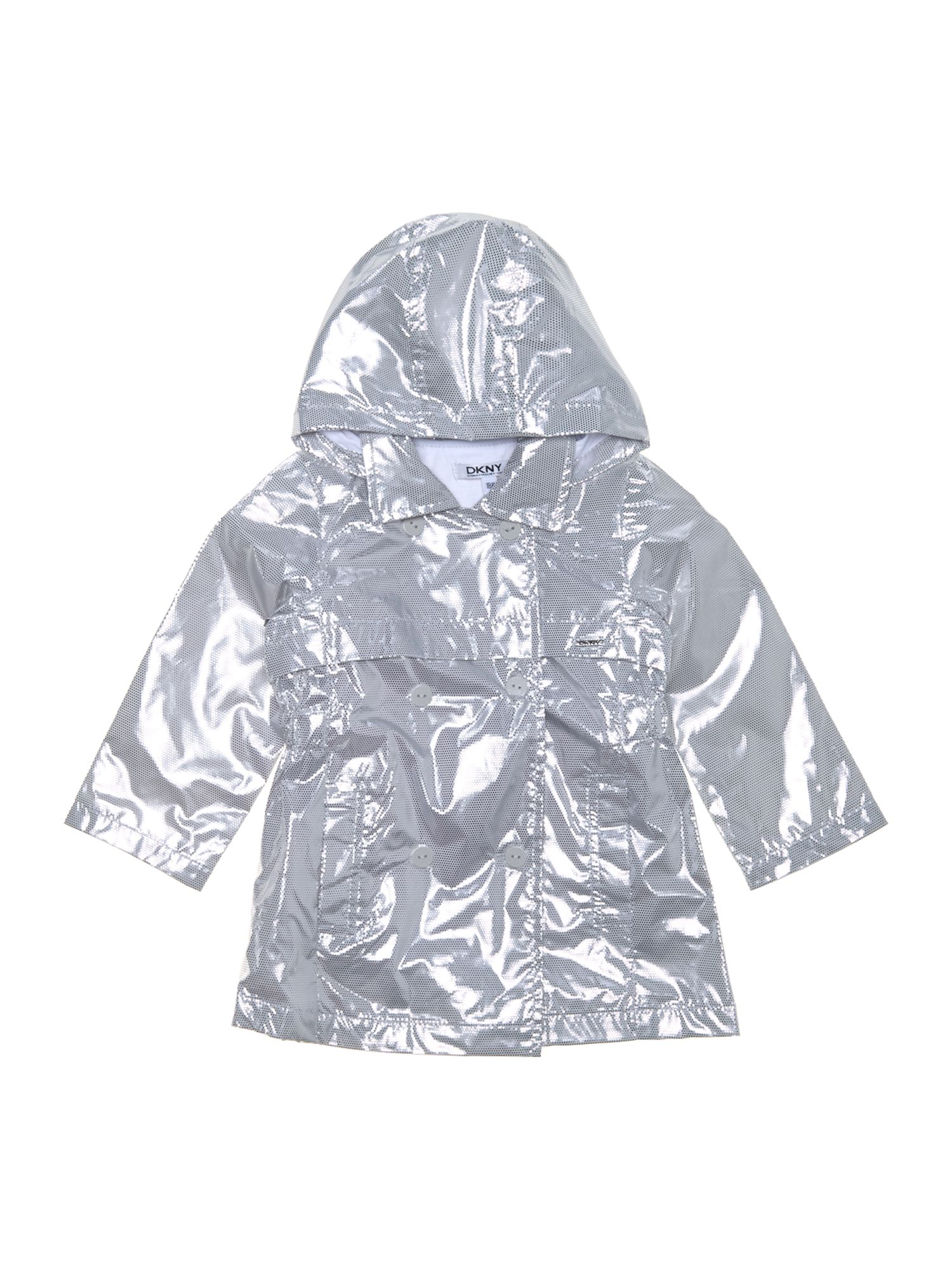Girl`s hooded windbreaker