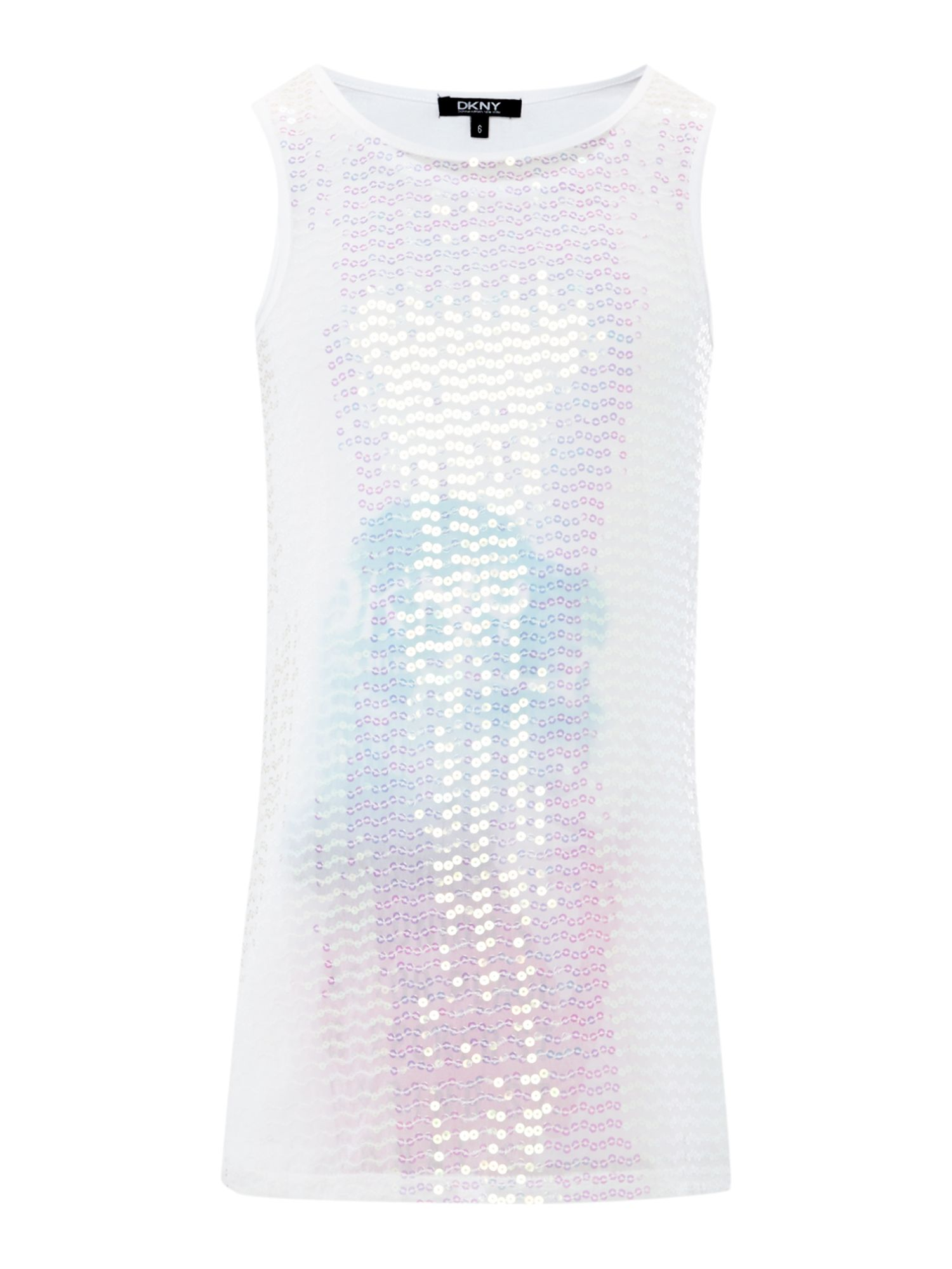 Girl`s sleeveless sequin dress