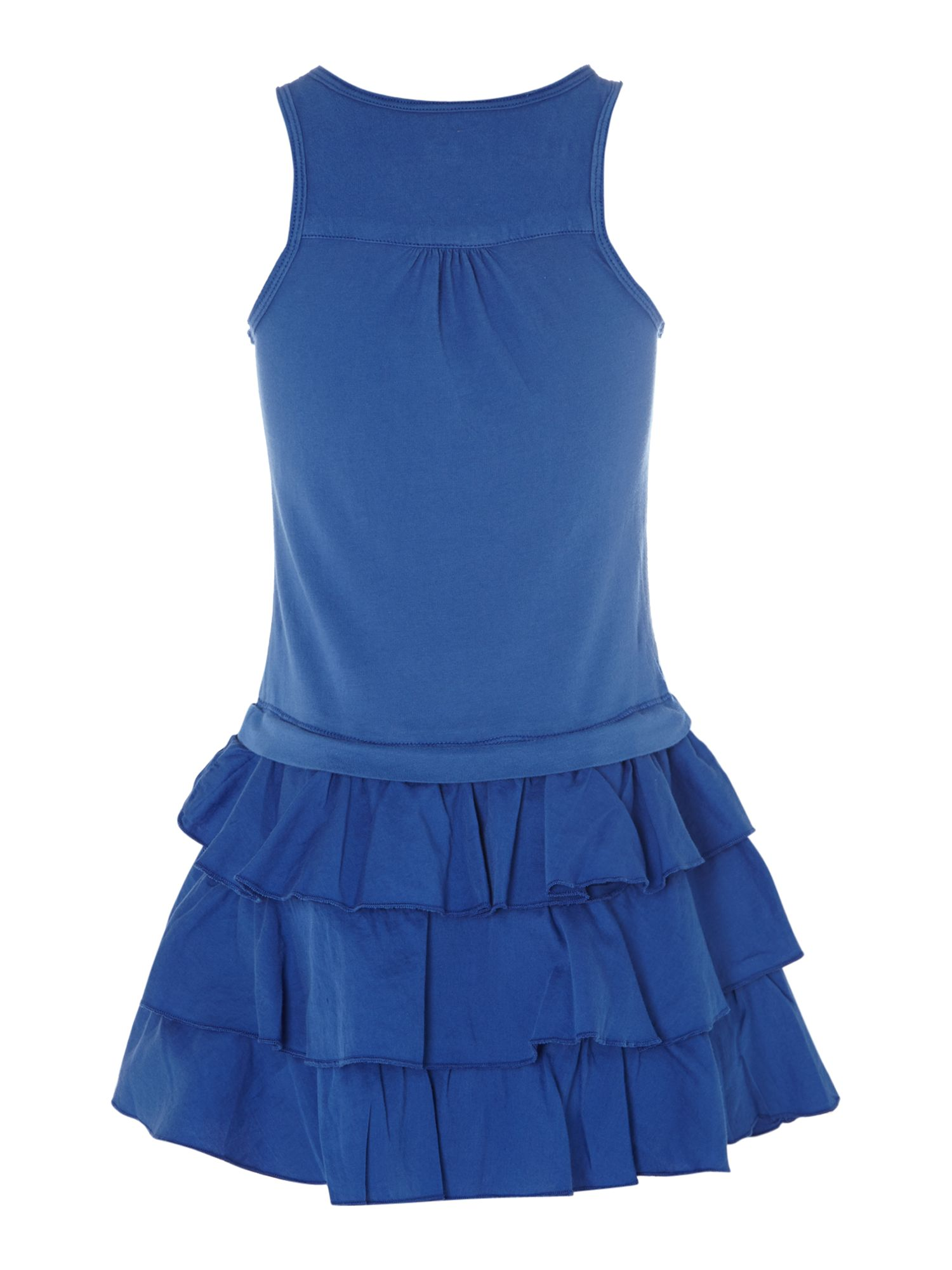 Girl`s sleeveless frill dress