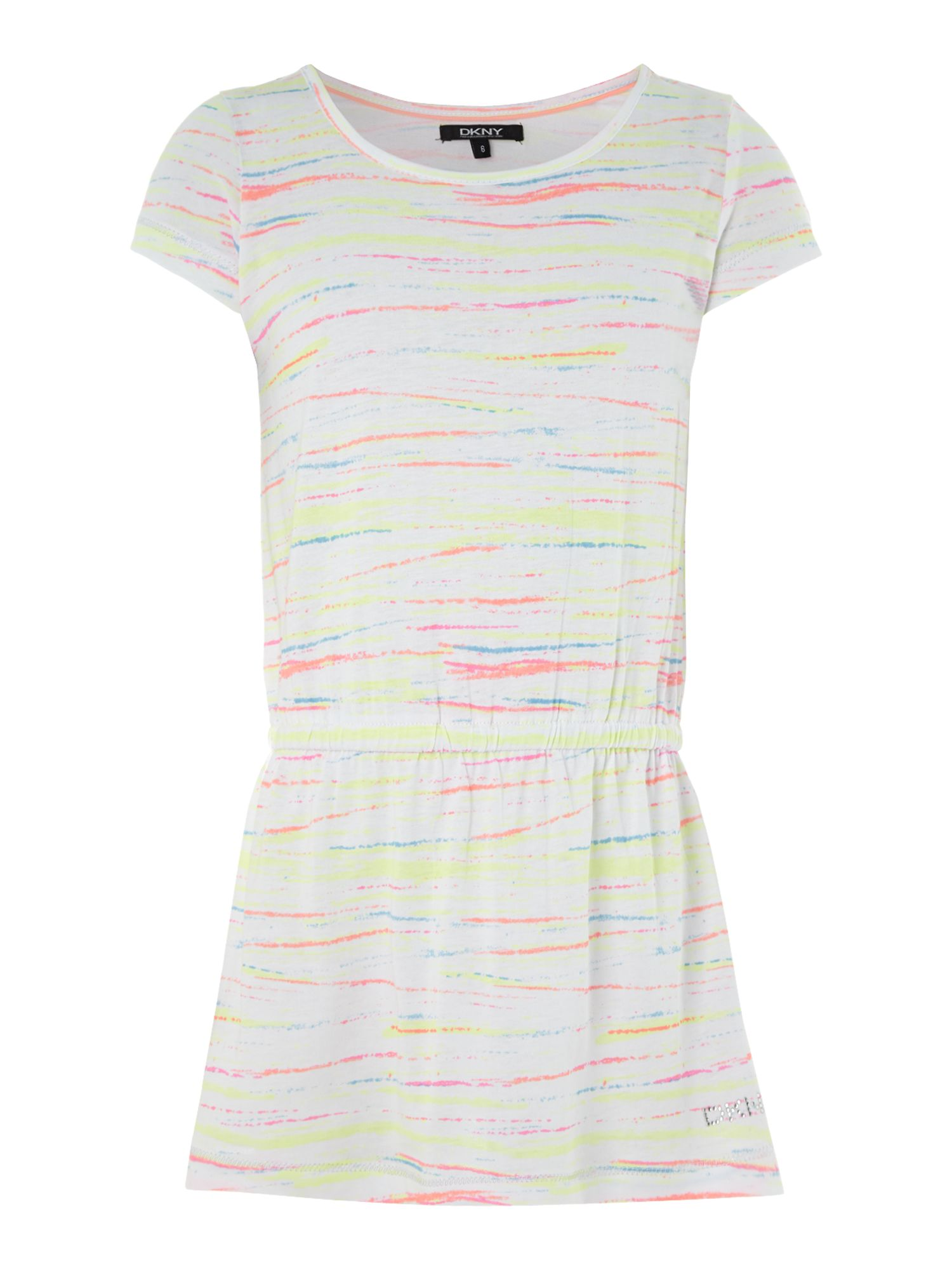 Girl`s jersey short sleeve dress