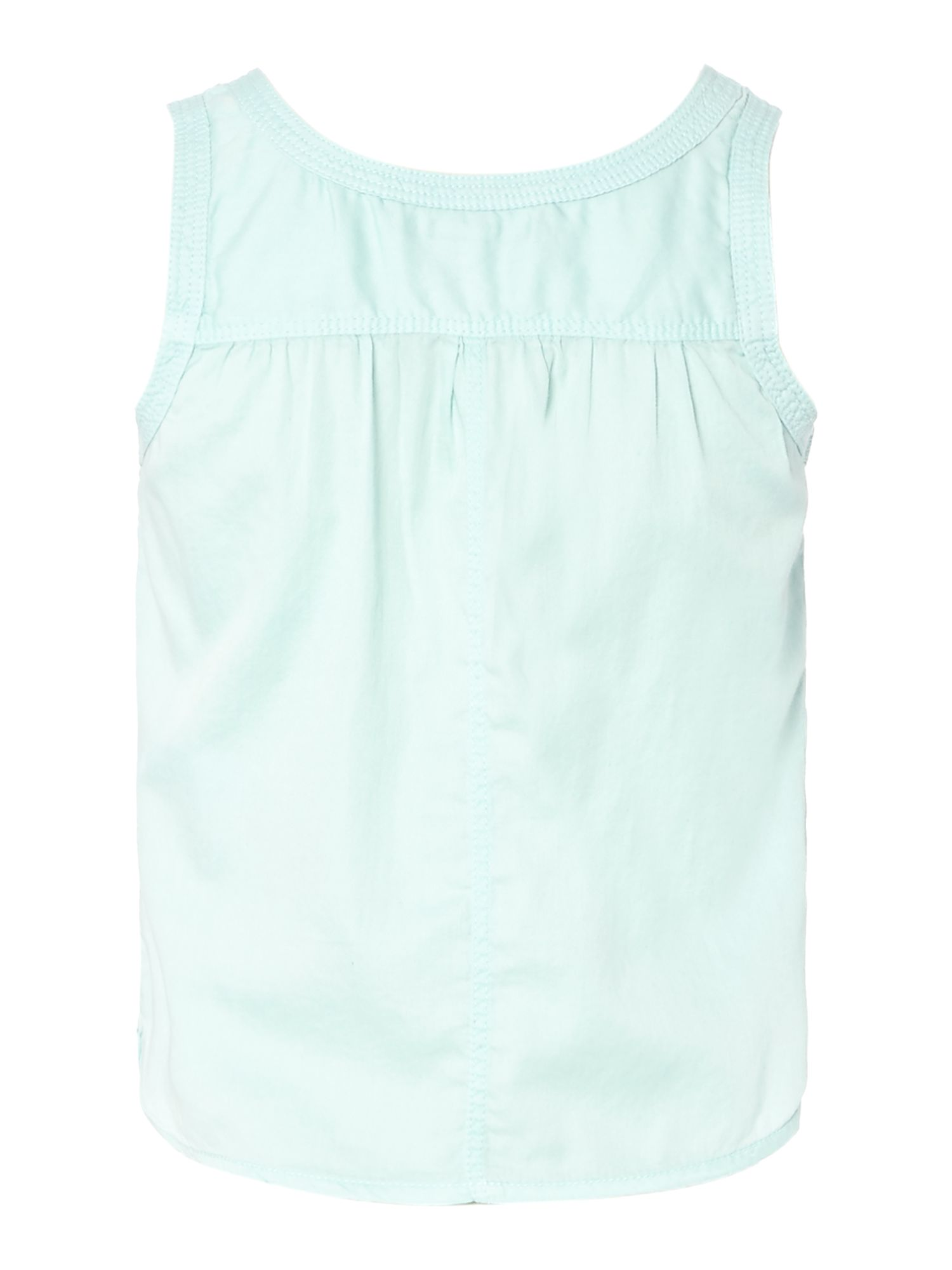 Girl`s satin sleeveless vest top