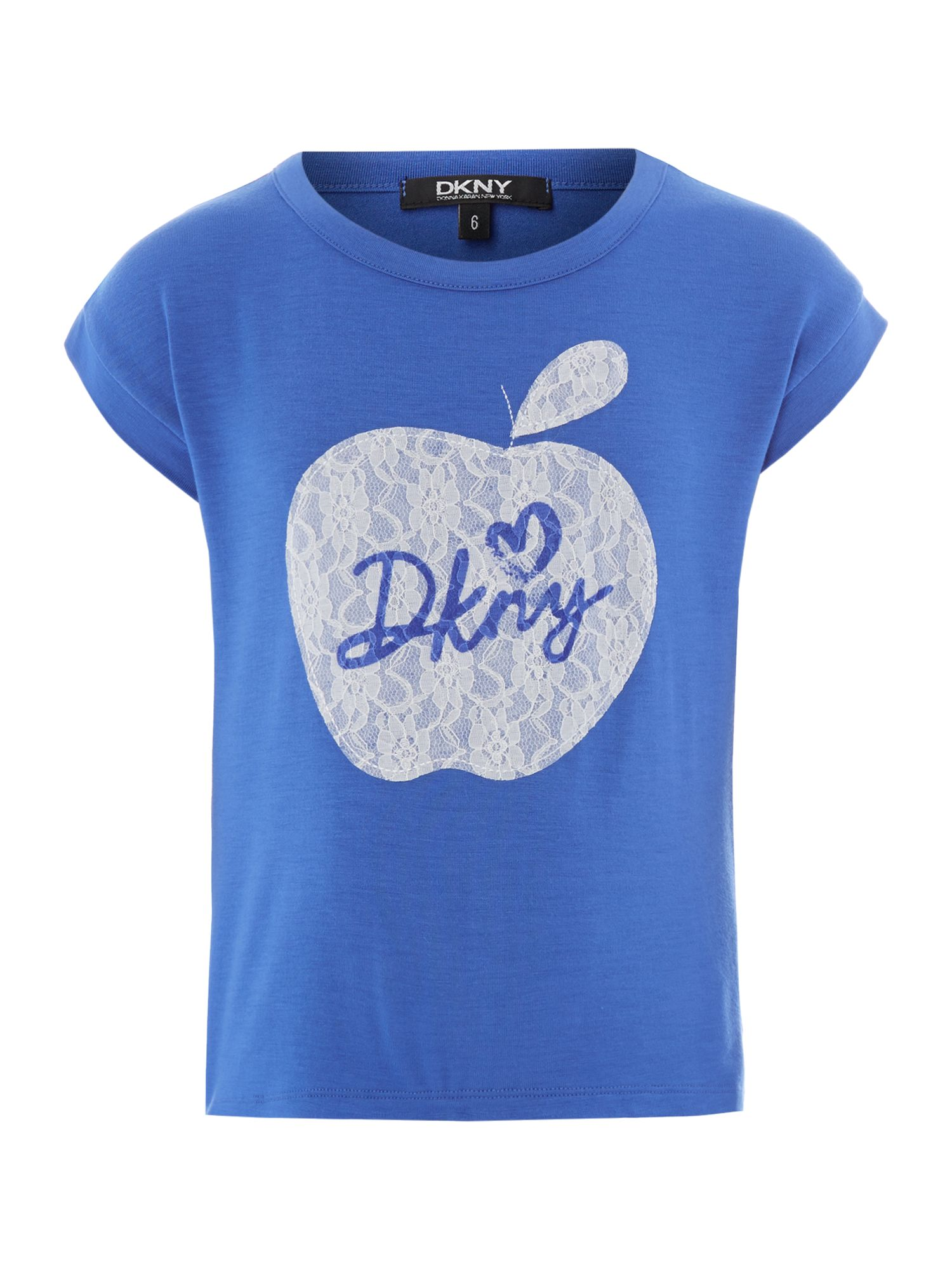 Girl`s lace apple short sleeve t-shirt