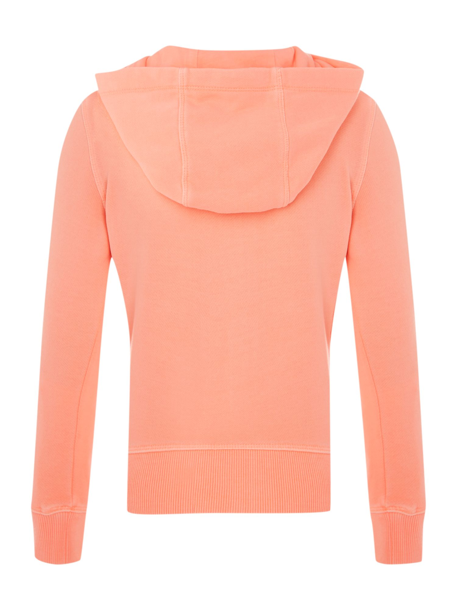 Girl`s long sleeve hooded top