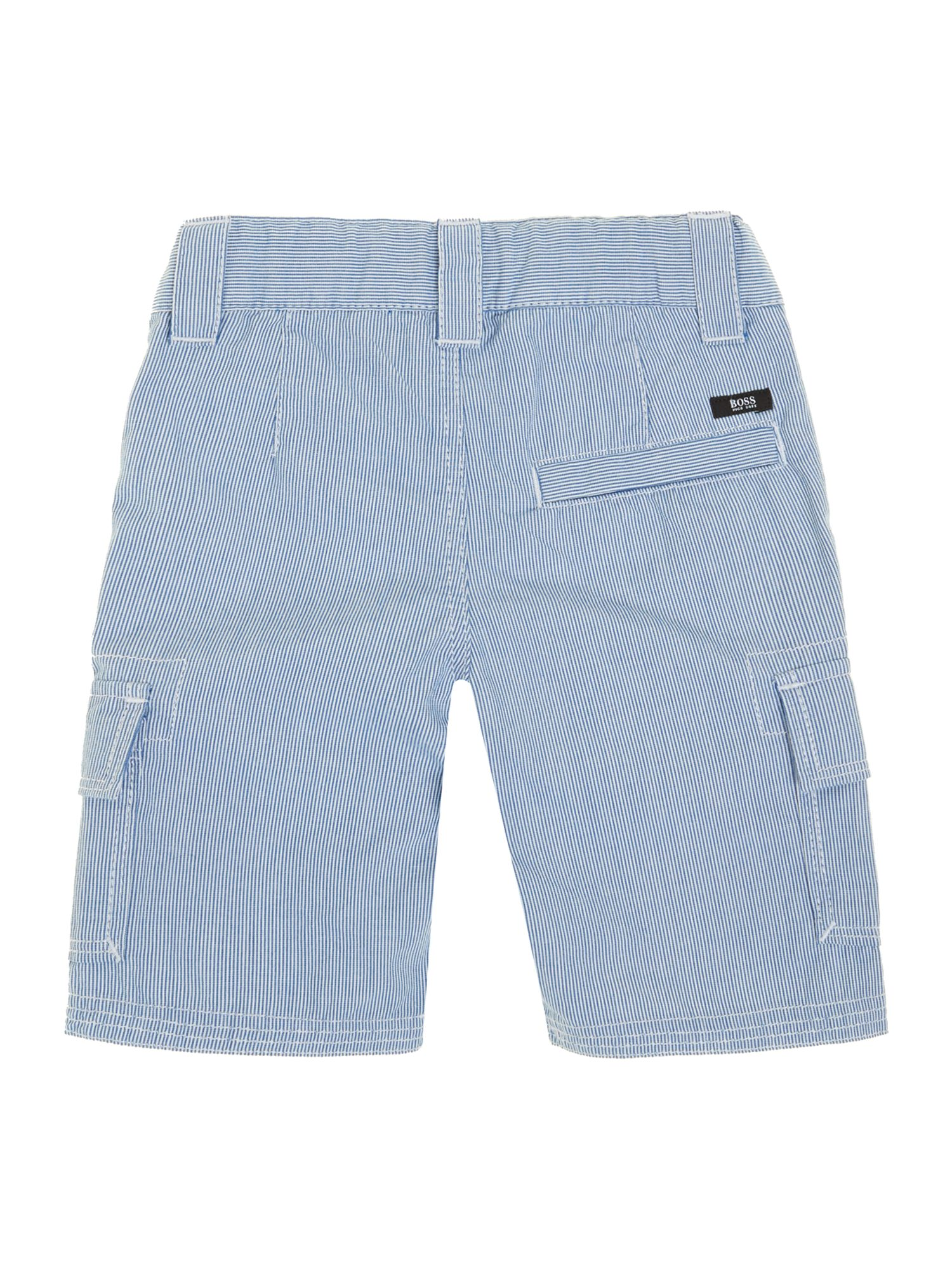 Boy`s striped poplin bermuda shorts