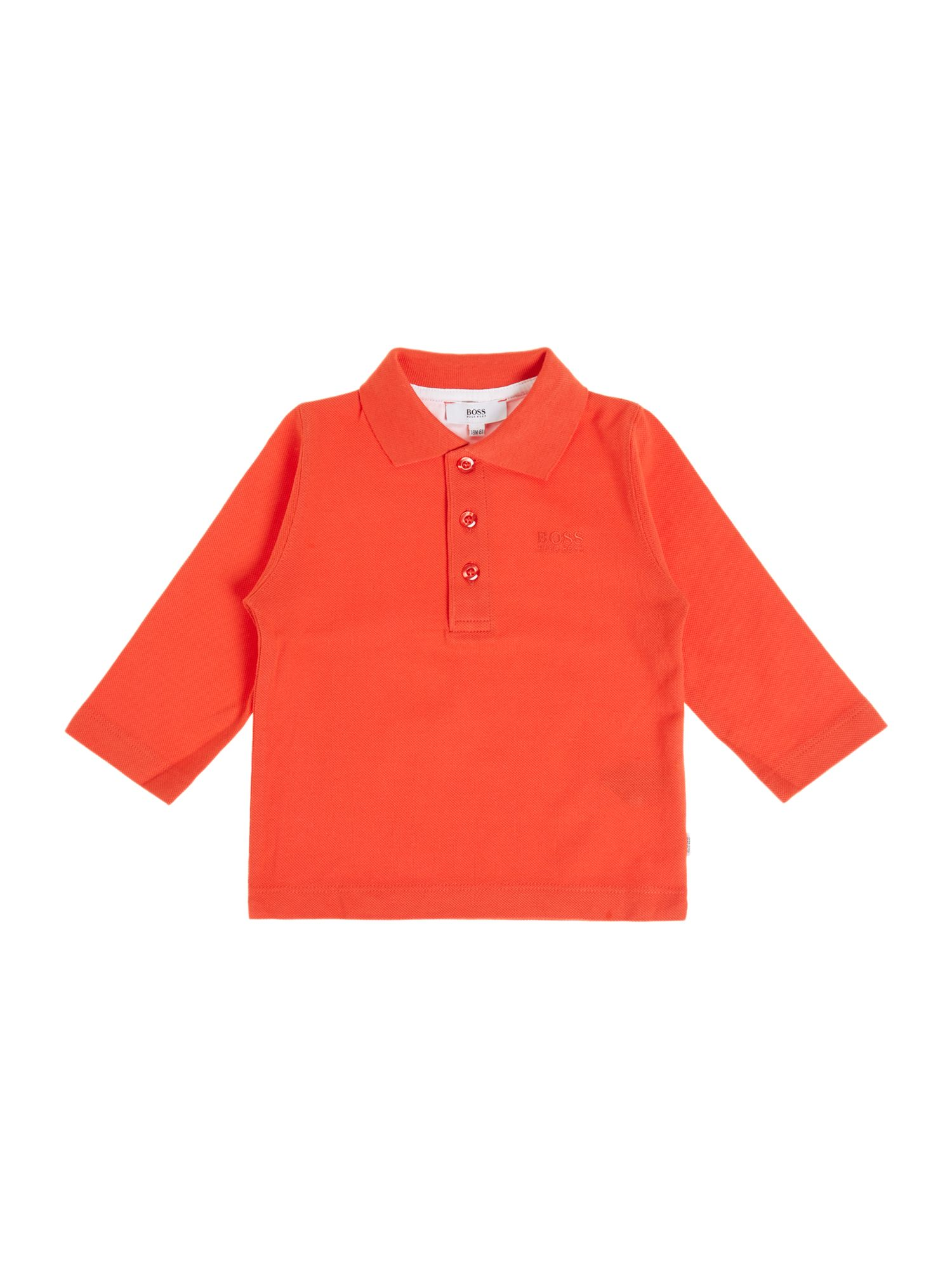 Boy`s piqué long sleeve polo shirt