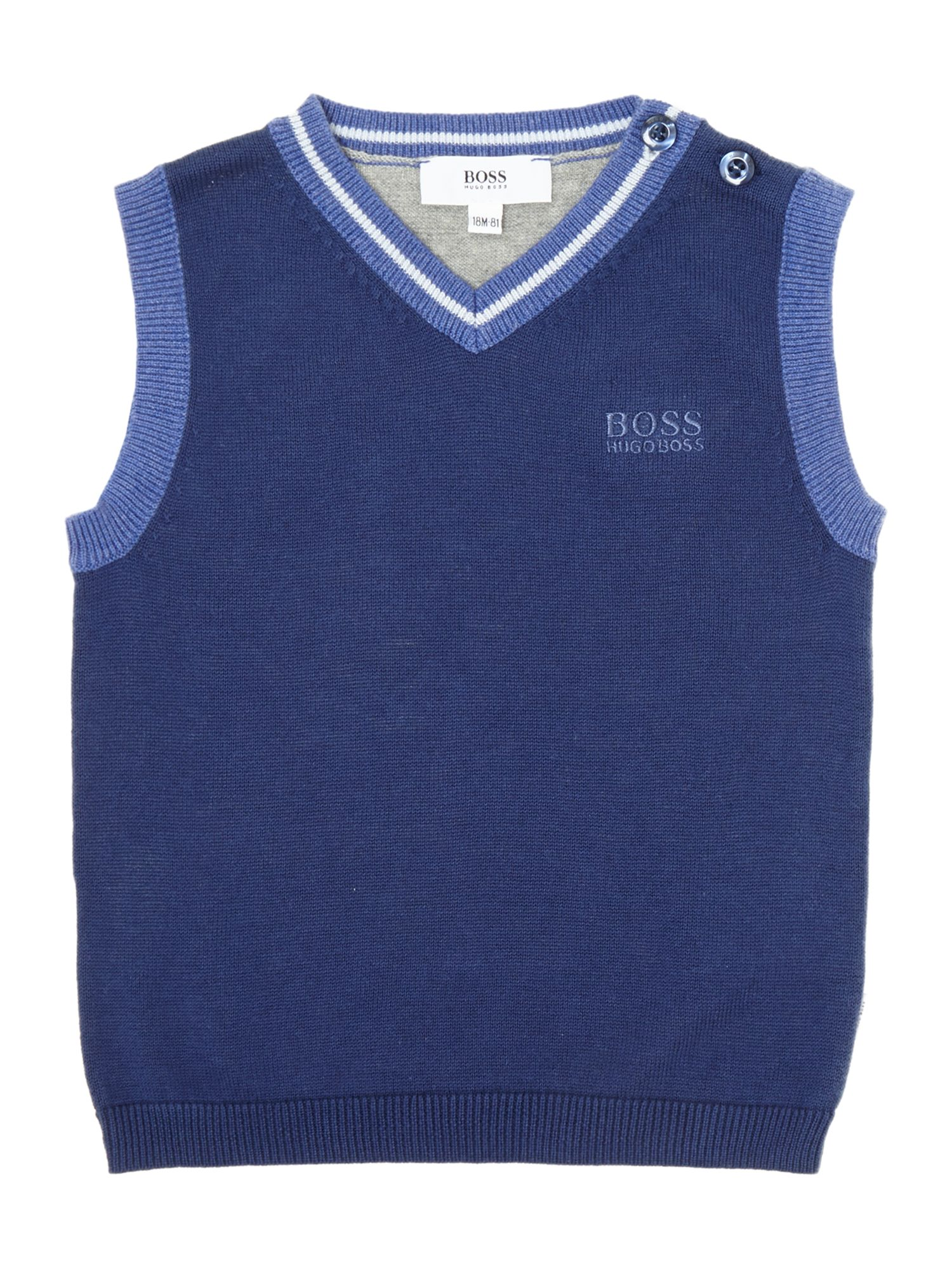 Boy`s knitted sleeveless jumper