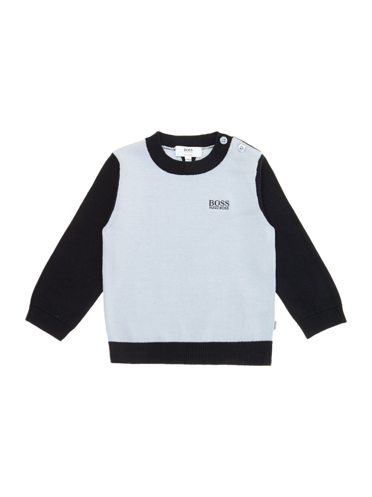 Boy`s pima cotton knitted jumper