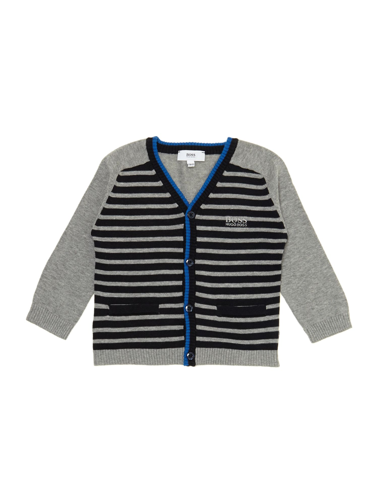 Boy`s knitted long sleeve cardigan