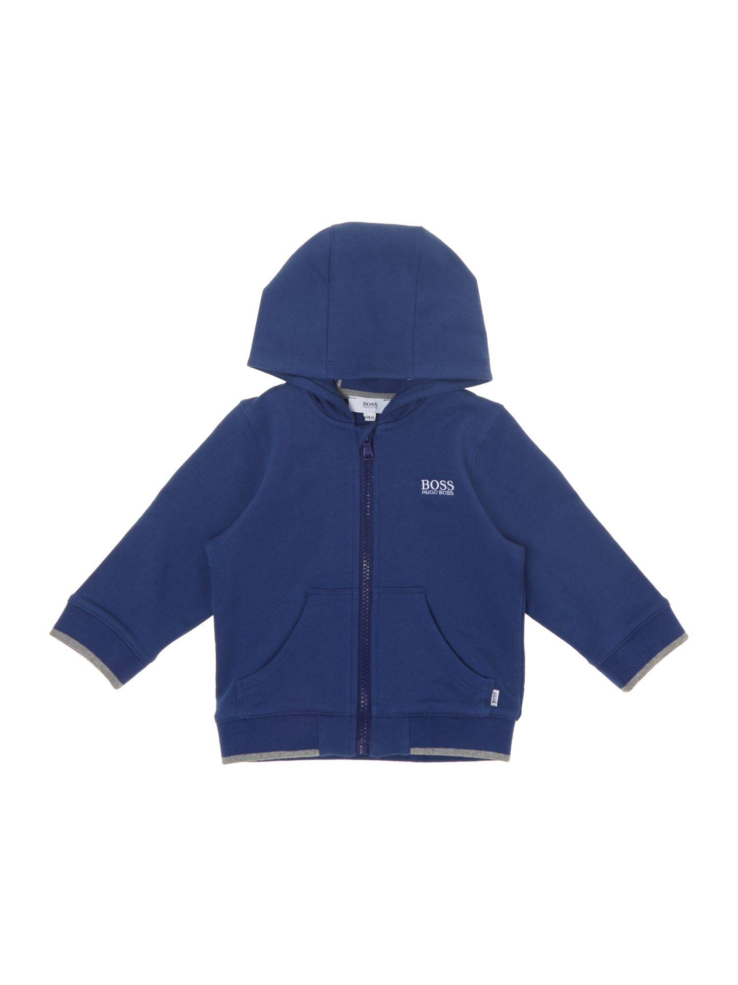 Boy`s long sleeve hooded zip top
