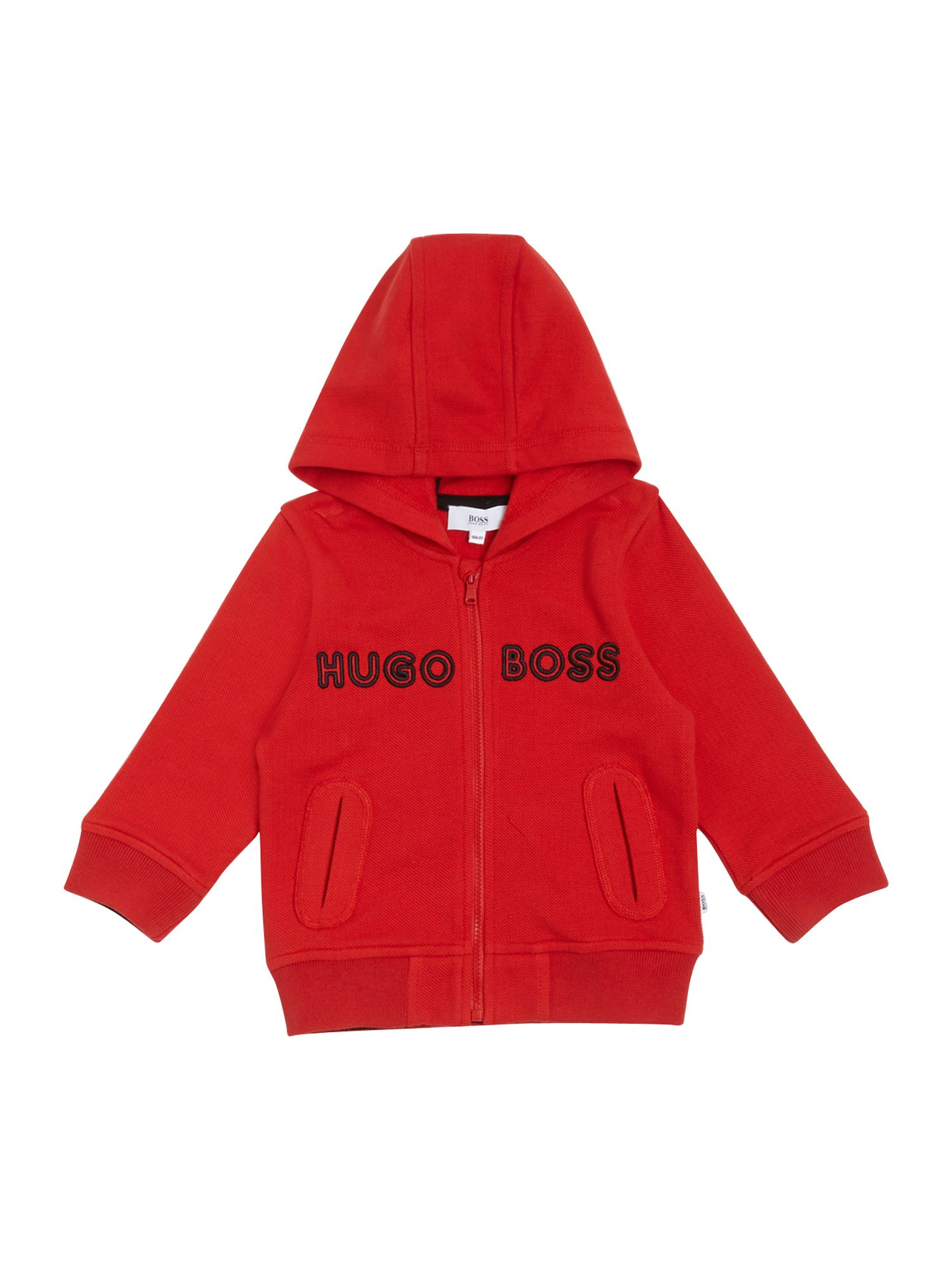 Boy`s piqué fleece hooded top