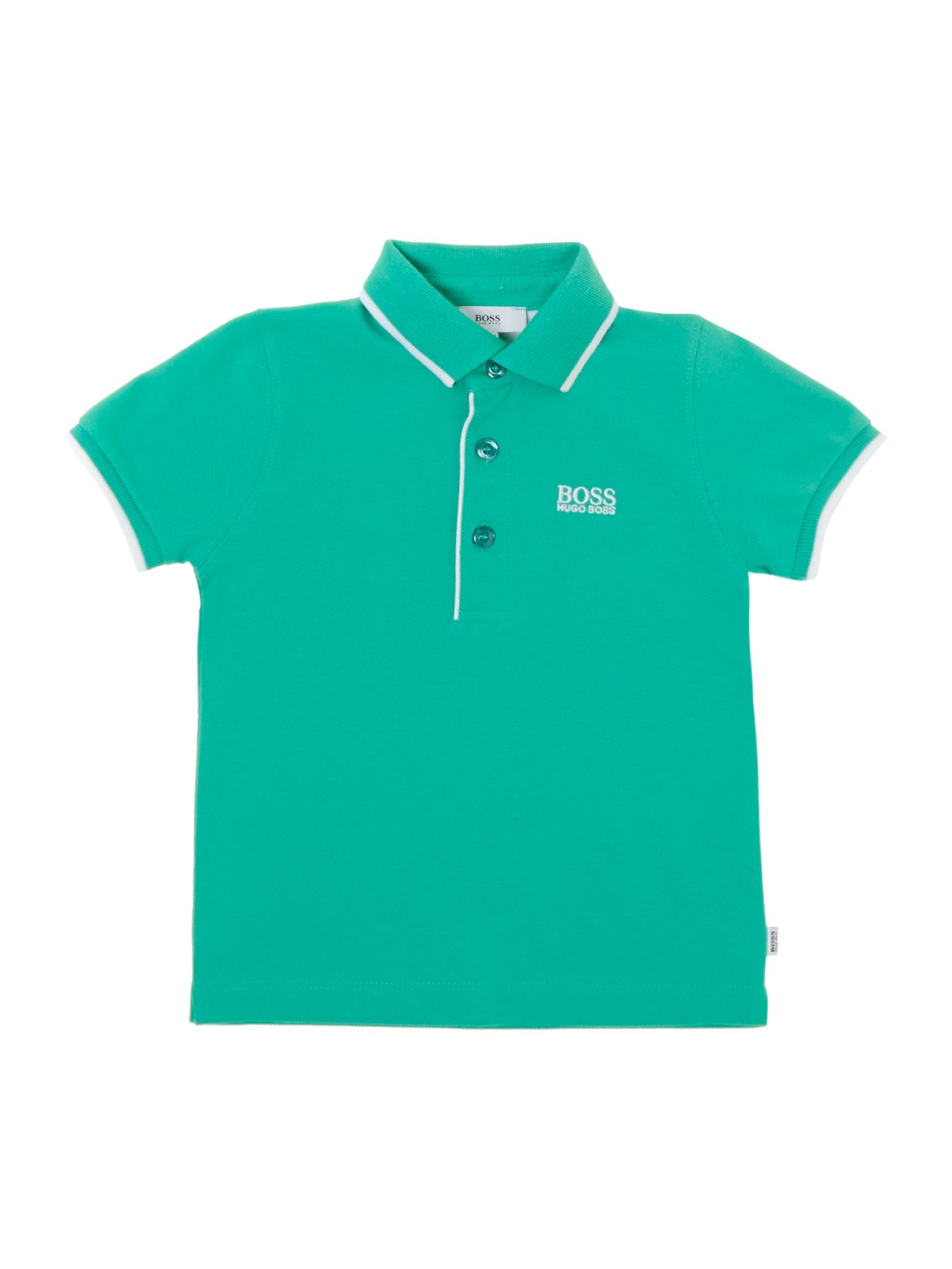 Boy`s cotton piqué short sleeve polo shirt
