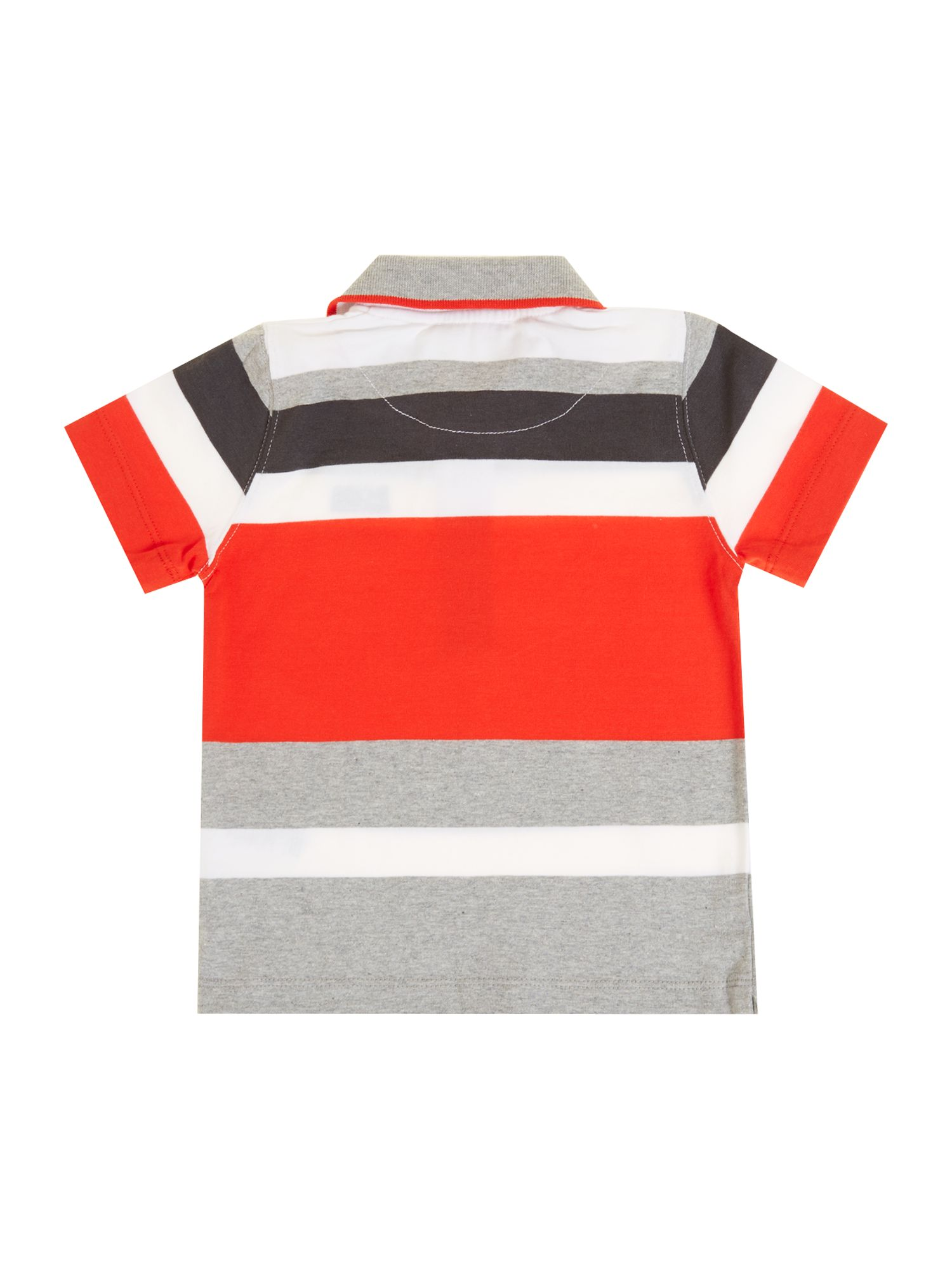 Boy`s jersey striped short sleeve polo shirt