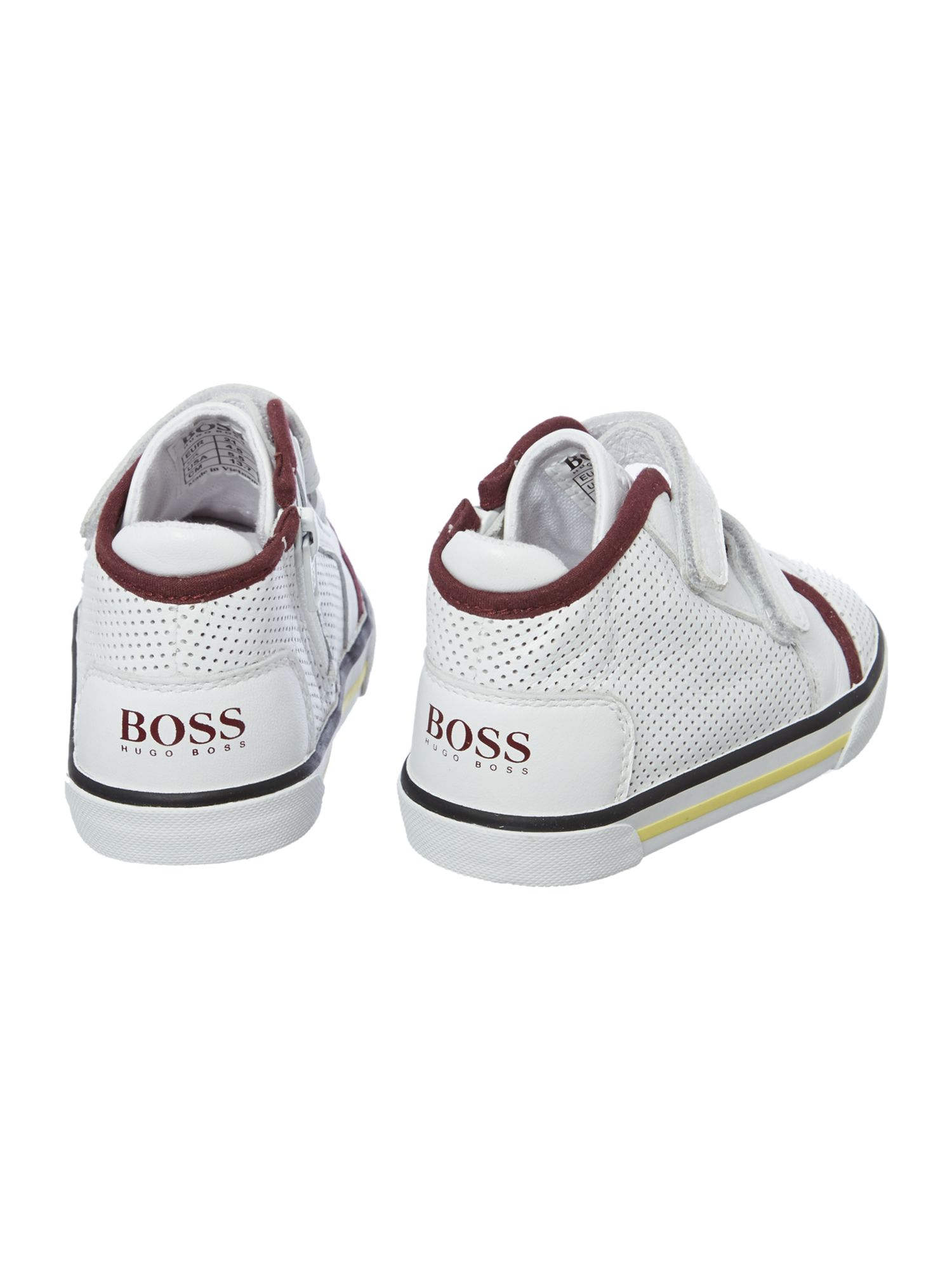 Boy`s leather and nubuck trainers