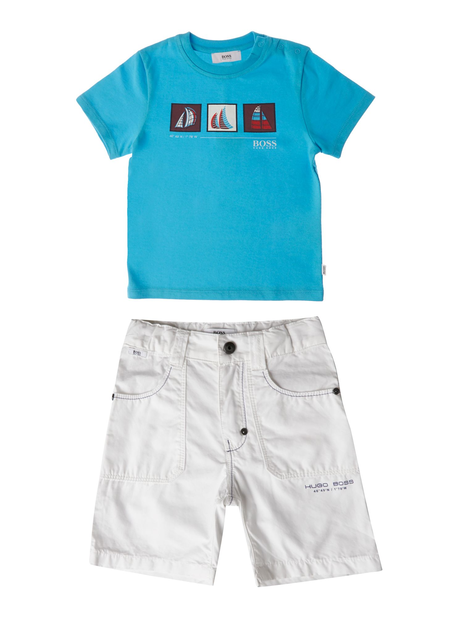 Boy`s t-shirt and short set