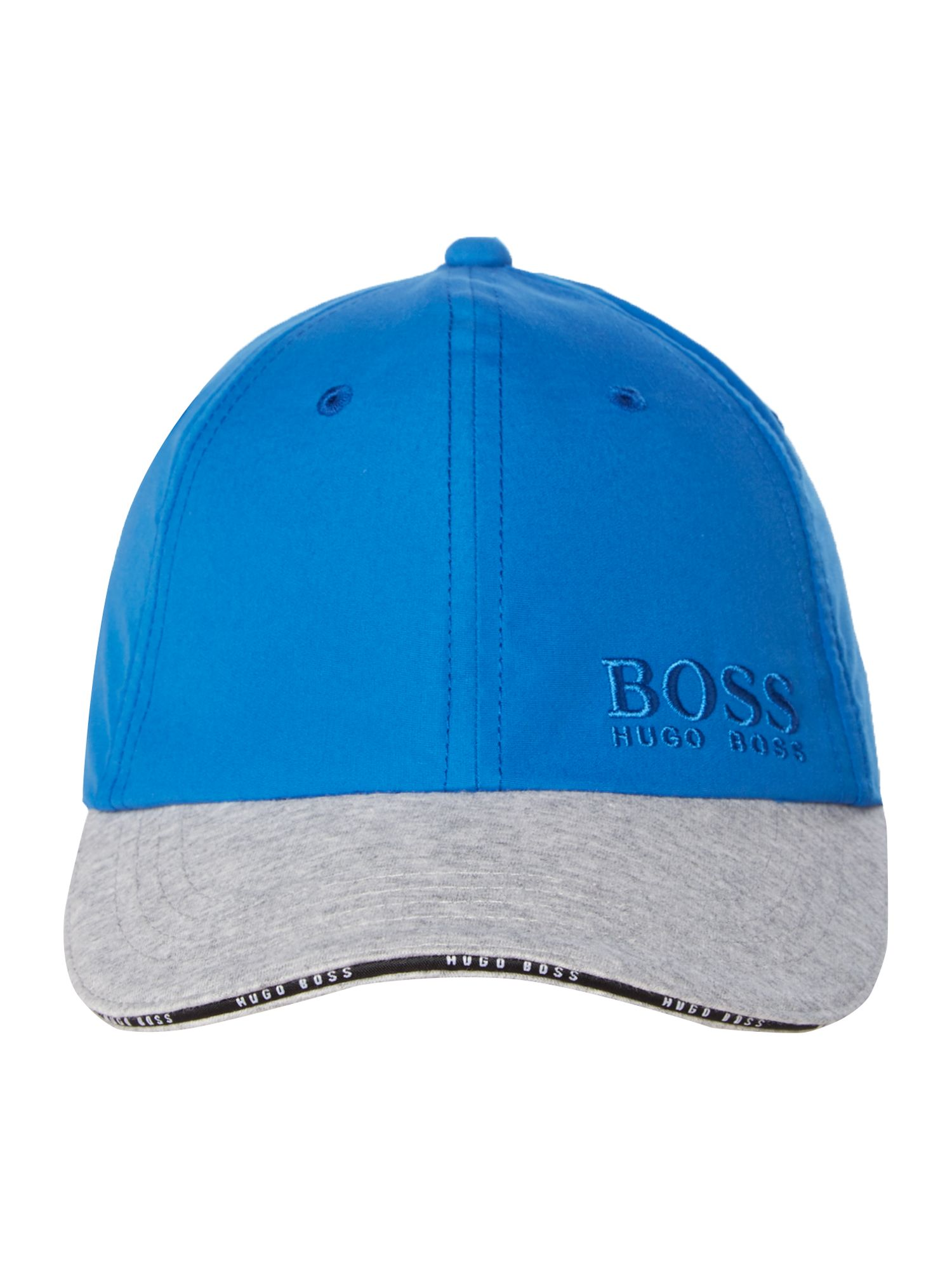 Boy`s poplin and jersey cap