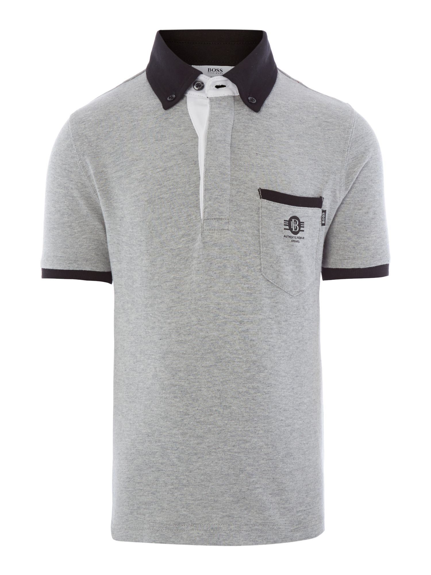 Boy`s jersey short sleeve polo shirt