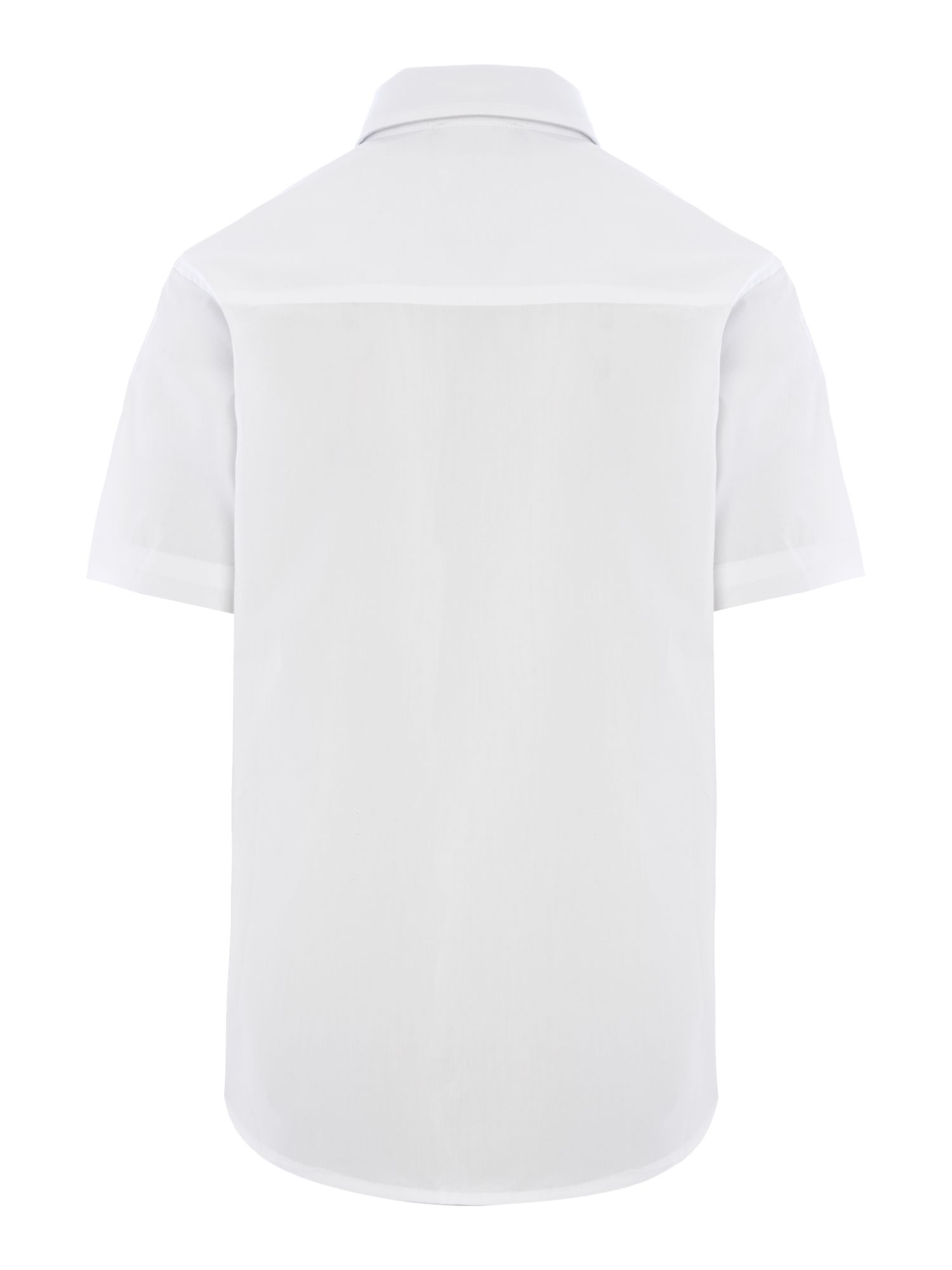 Boy`s poplin short sleeve shirt