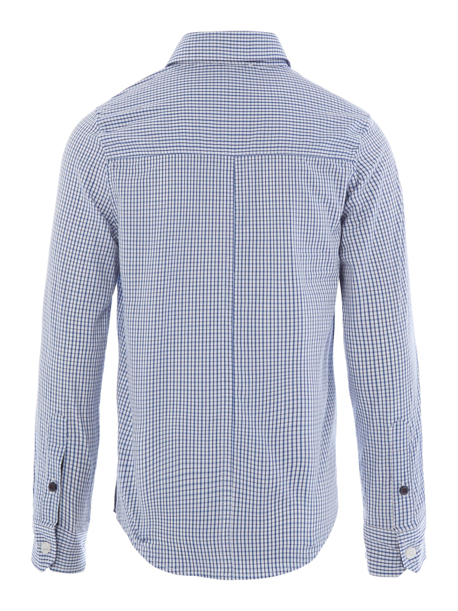 Boy`s poplin long sleeve striped shirt